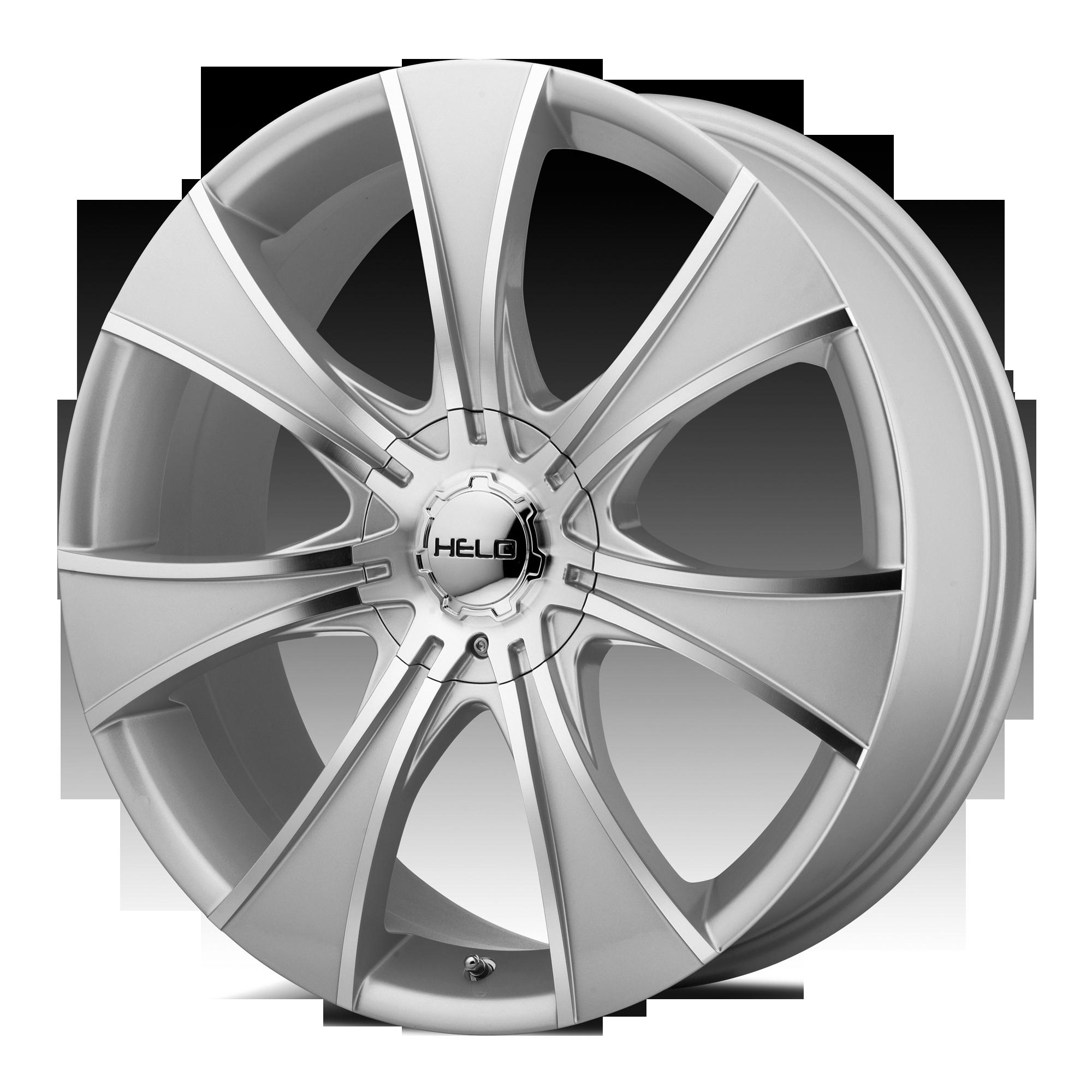 Helo Wheels HE874 Dark Silver w/ Machined Face