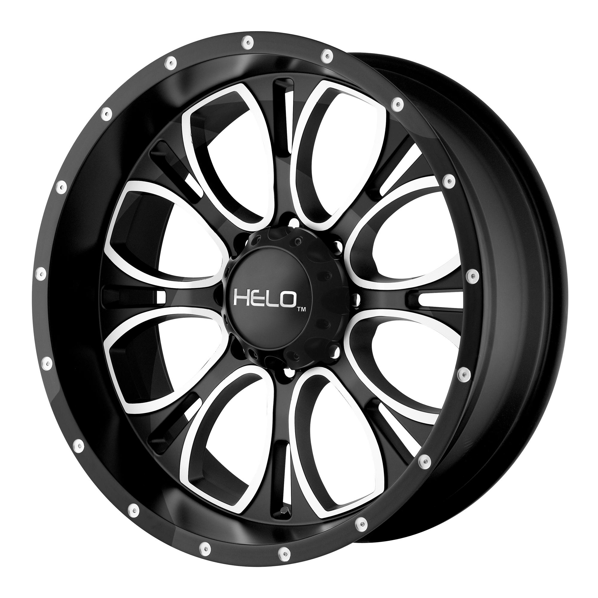 Helo Wheels HE879 Gloss Black Machined & Milled