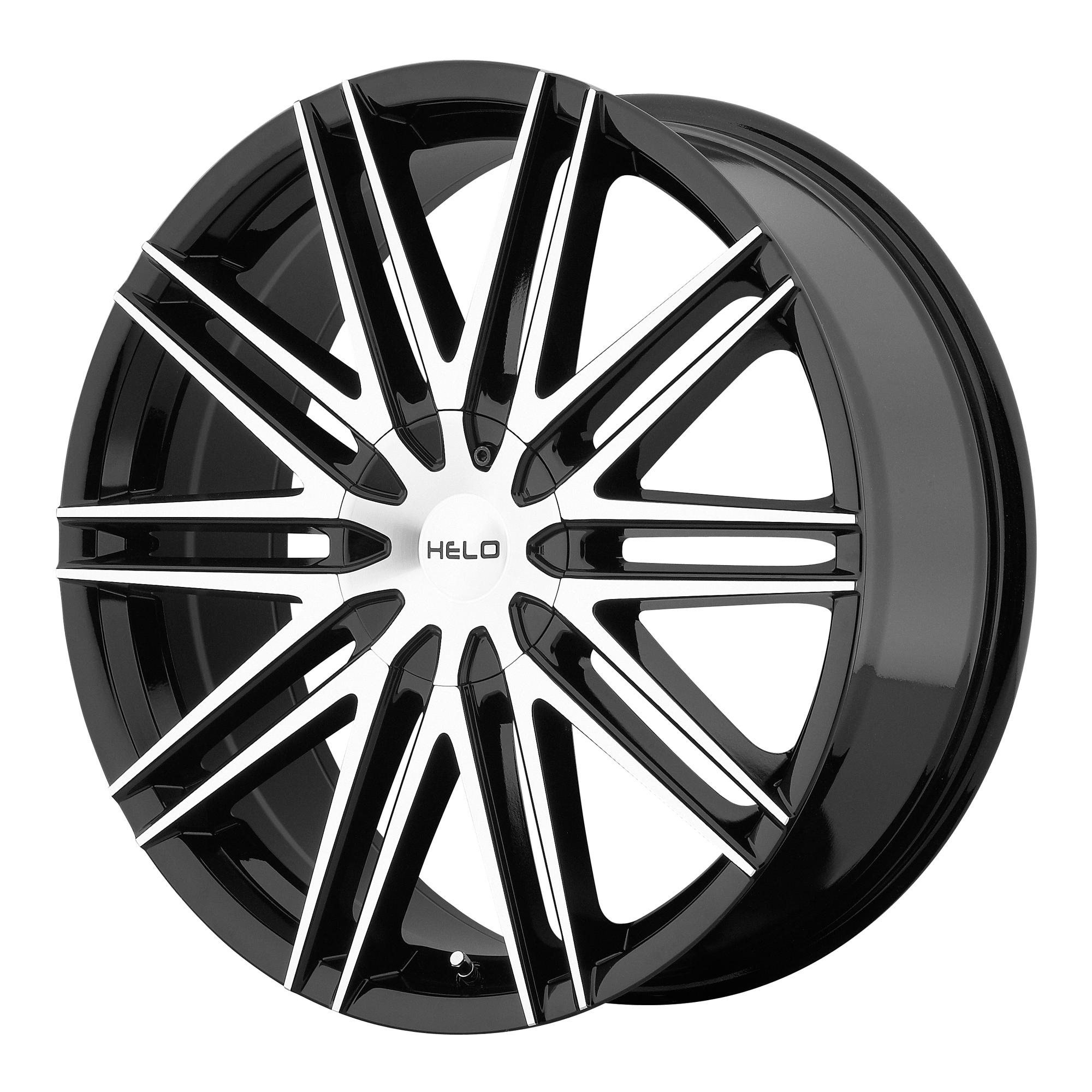 Helo Wheels HE880 Gloss Black w/ Machined Face