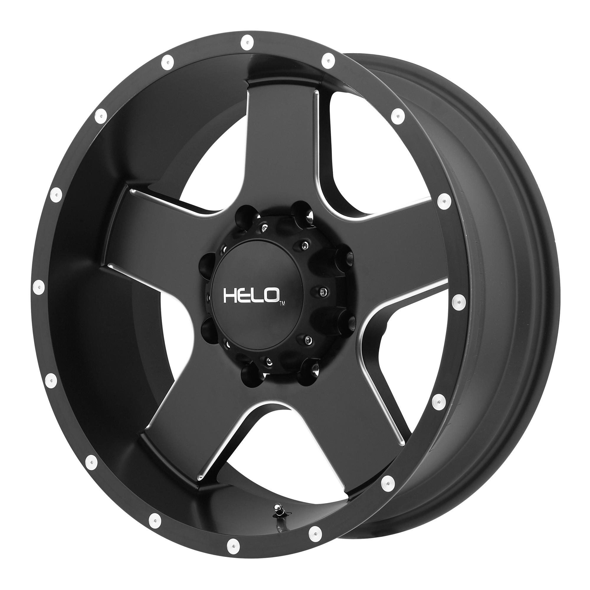 Helo Wheels HE886 Satin Black w/ Milled Spokes & FLANGE