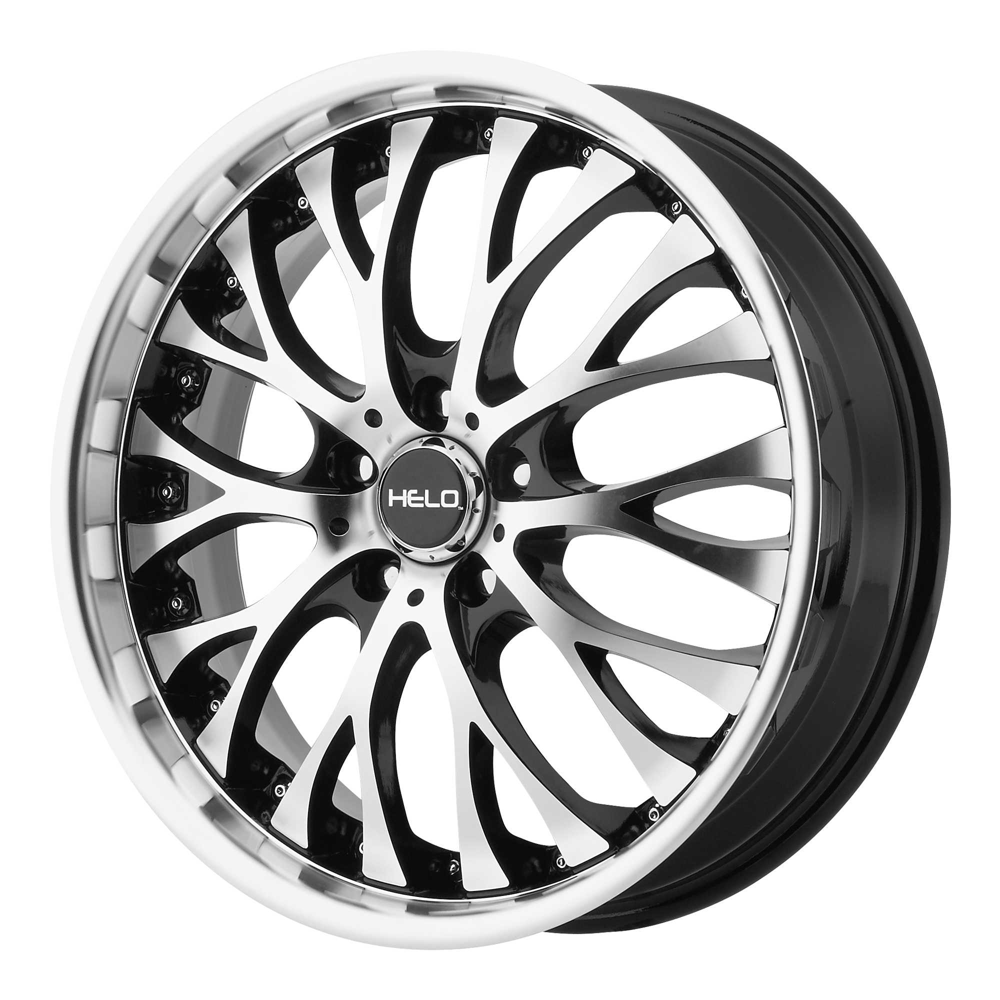 Helo Wheels HE890 Gloss Black w/ Machined Face