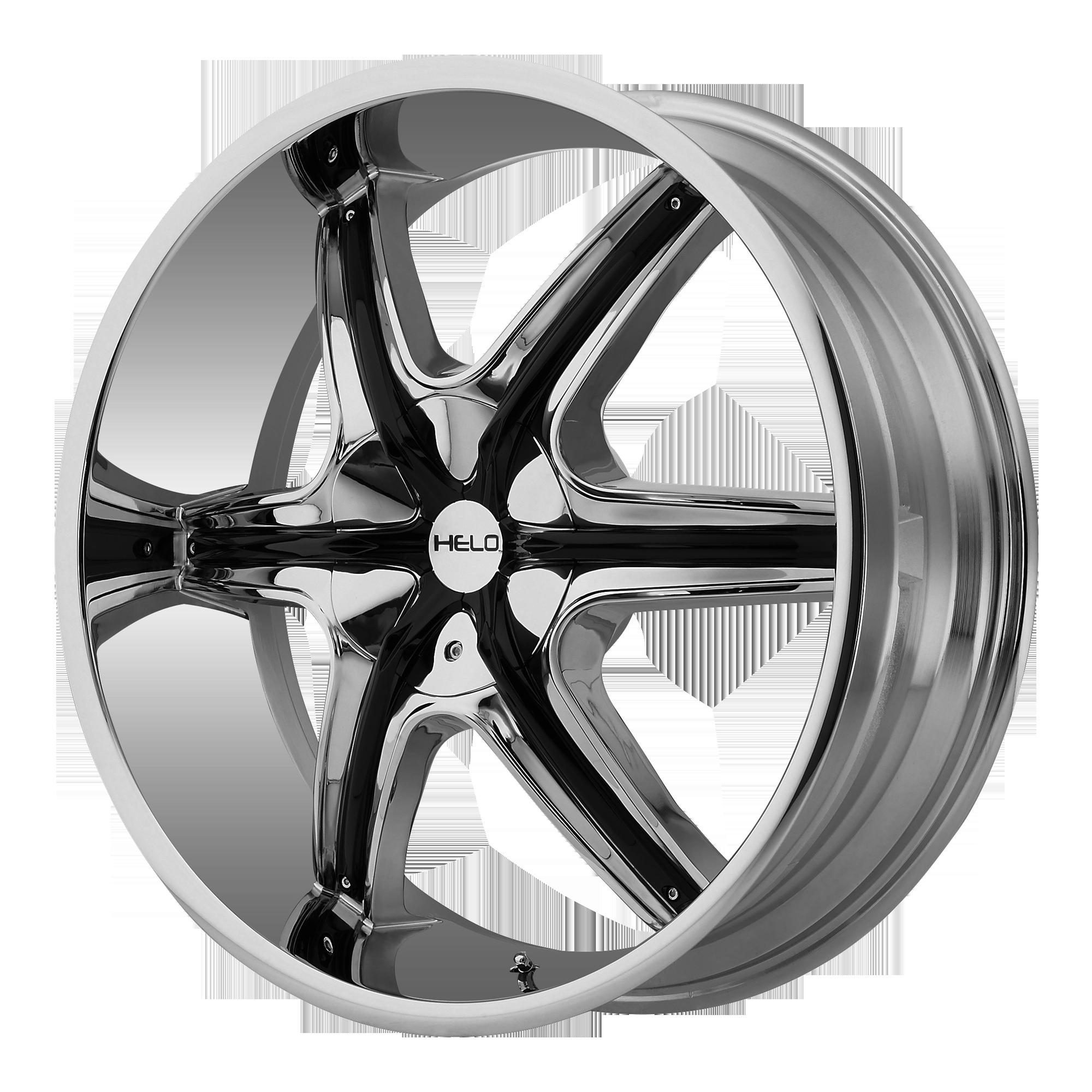 Helo Wheels HE891 Chrome w/ Gloss Black and Chrome Accents