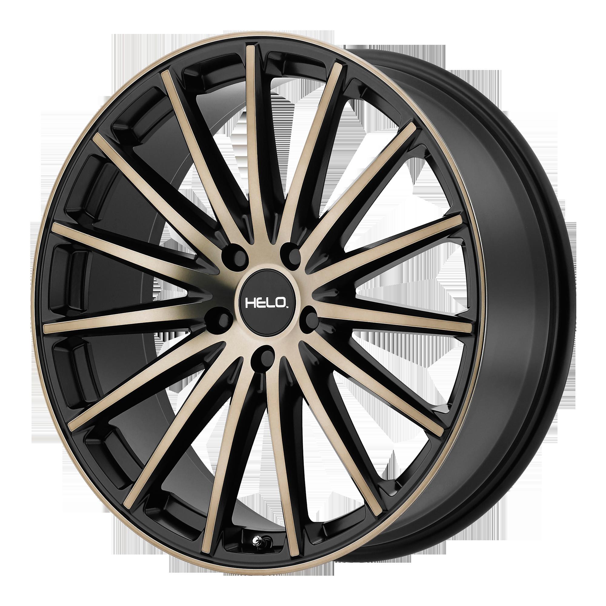 Helo Wheels HE894 Satin Black w/ Dark Tint Clear Coat
