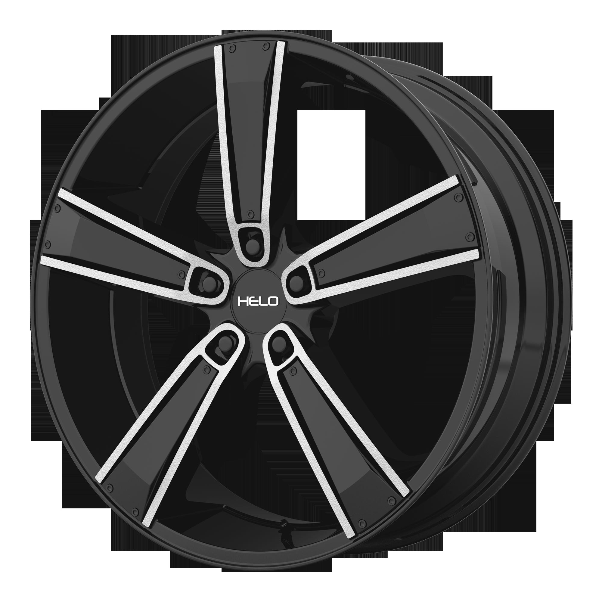 Helo Wheels HE899 Satin Black MACH w/ Gloss Black & Chrome INSERTS