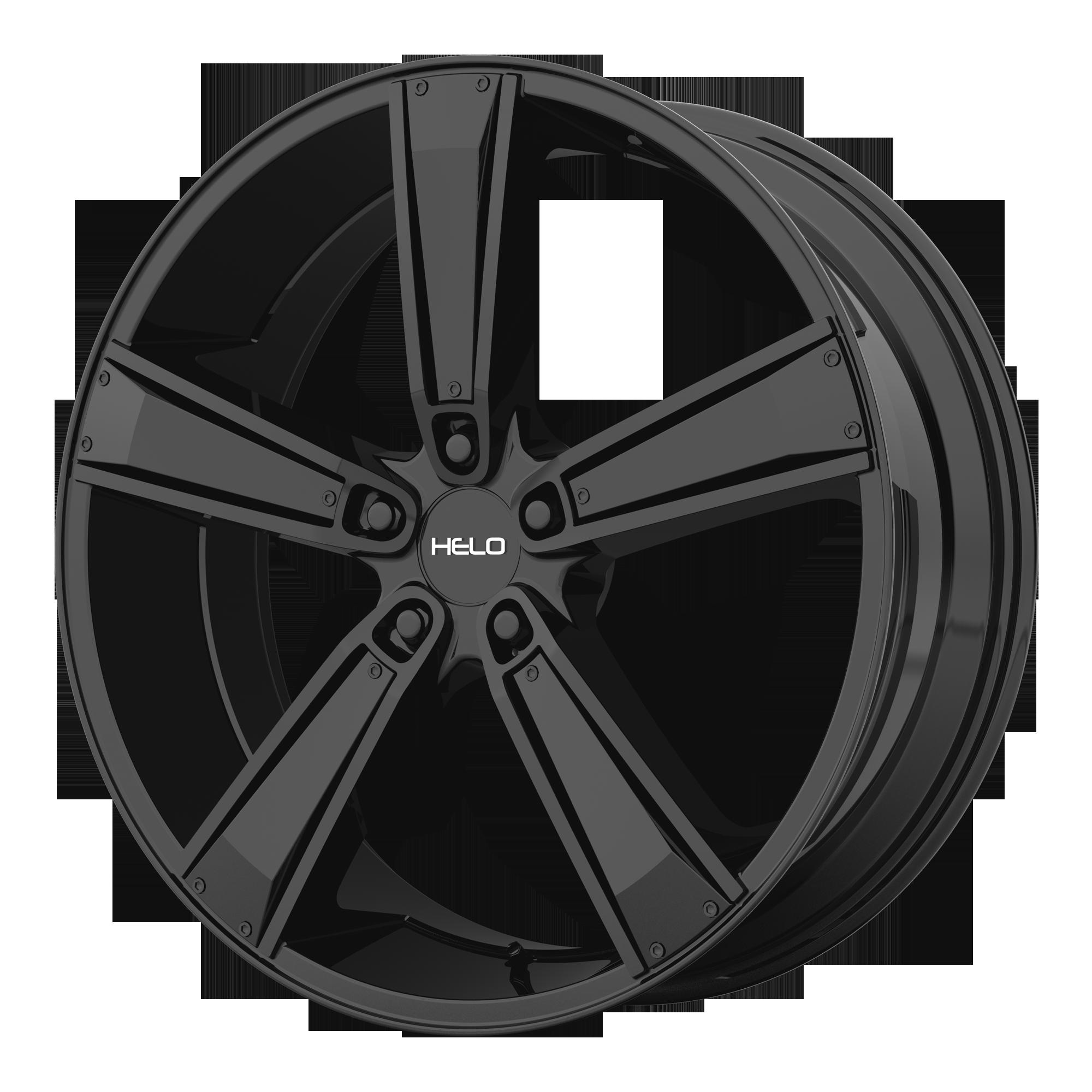 Helo Wheels HE899 Satin Black w/ Gloss Black & Chrome INSERTS