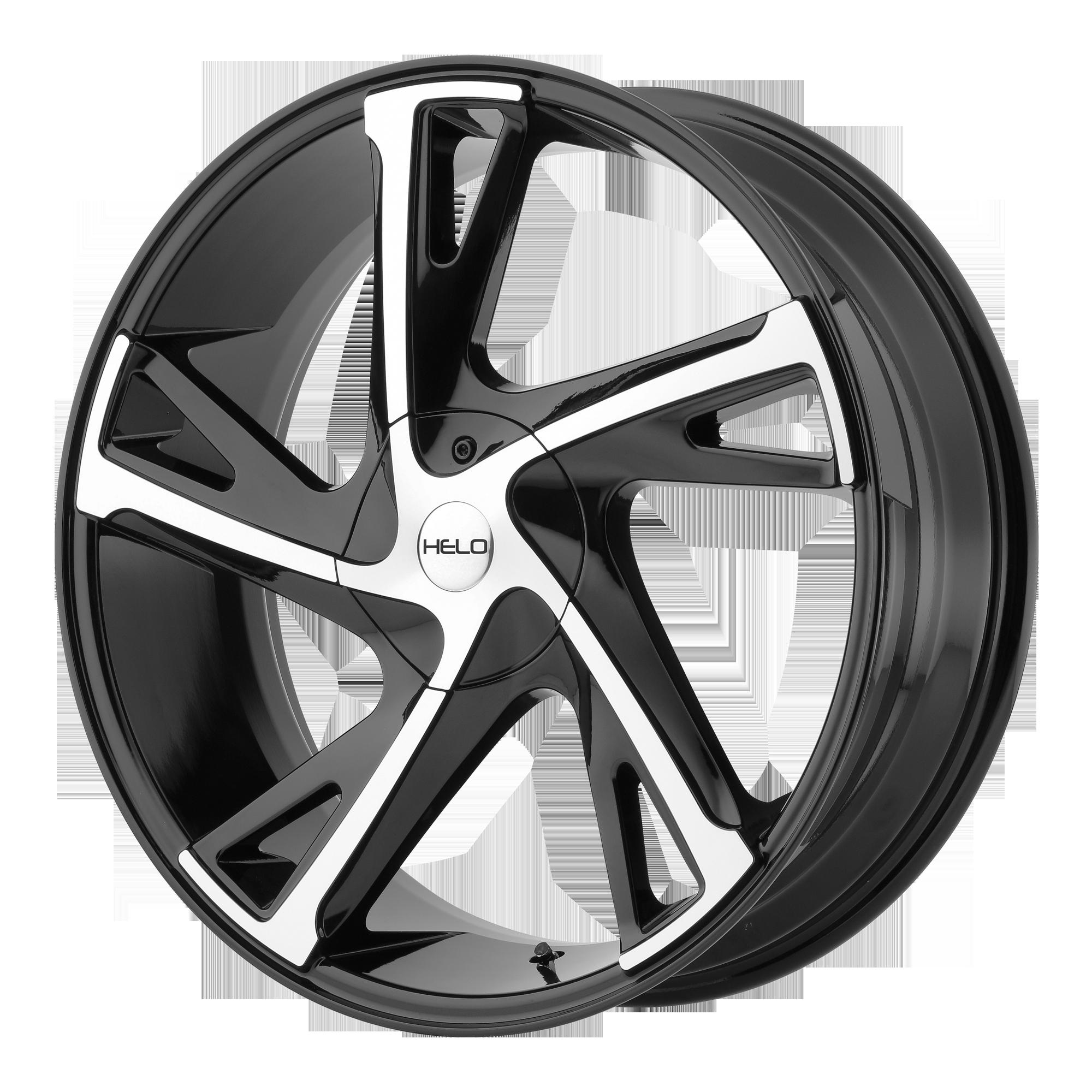 Helo Wheels HE902 Gloss Black Machined