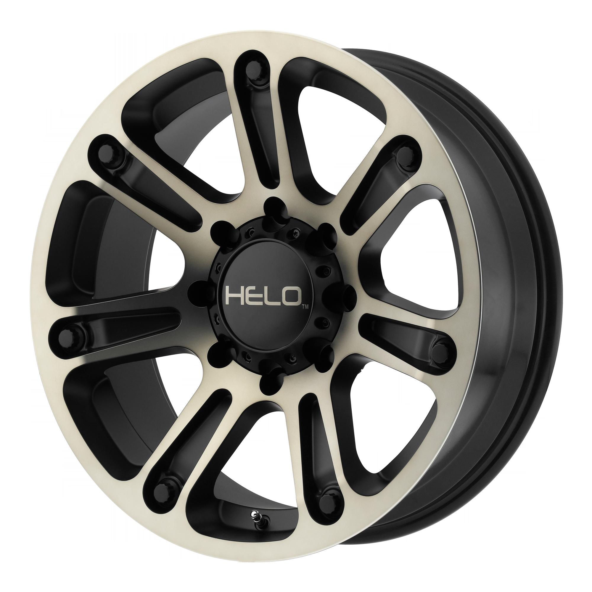 Helo Wheels HE904 Satin Black Machined w/ Dark Tinted Clear