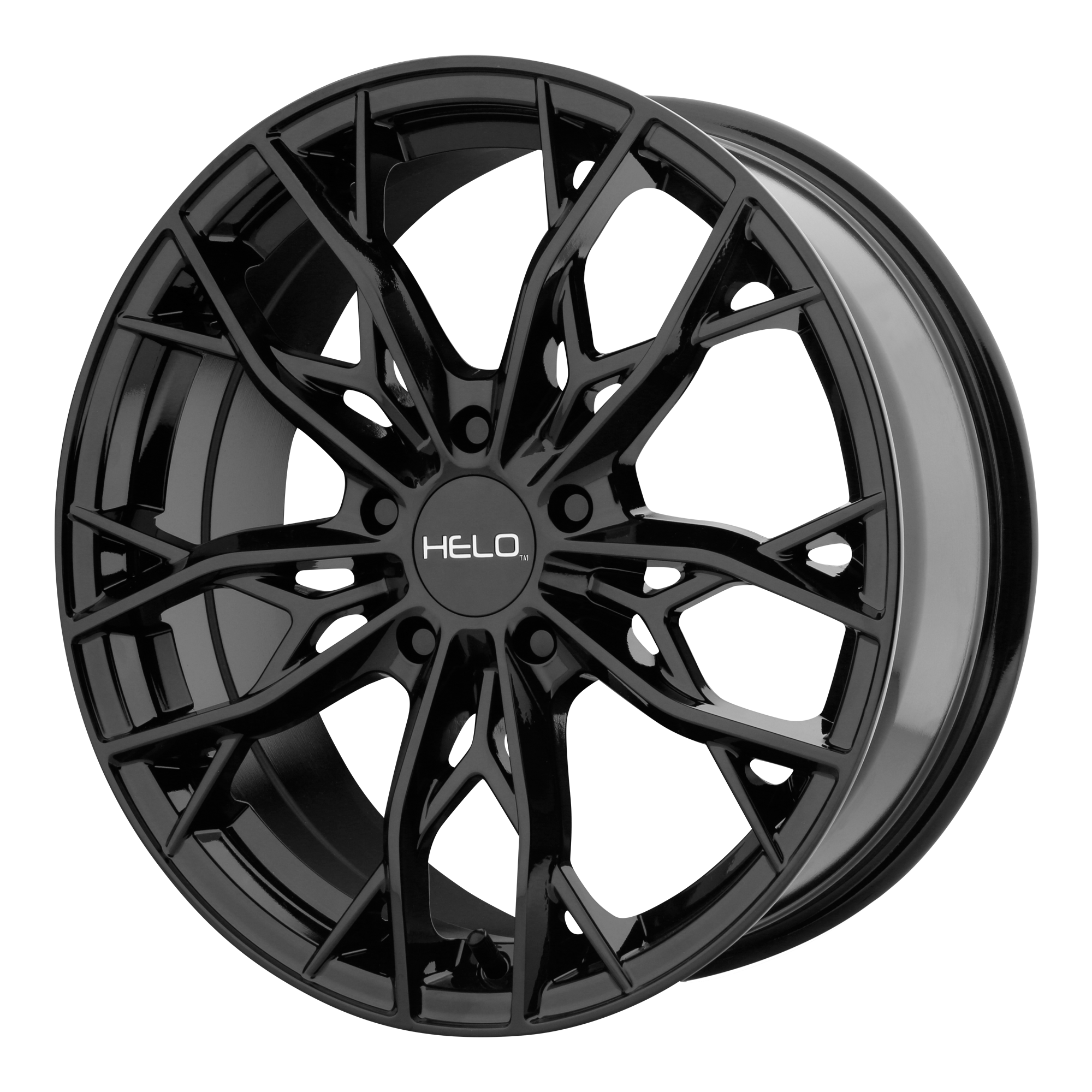 18x8 Helo Wheels HE907 Gloss Black
