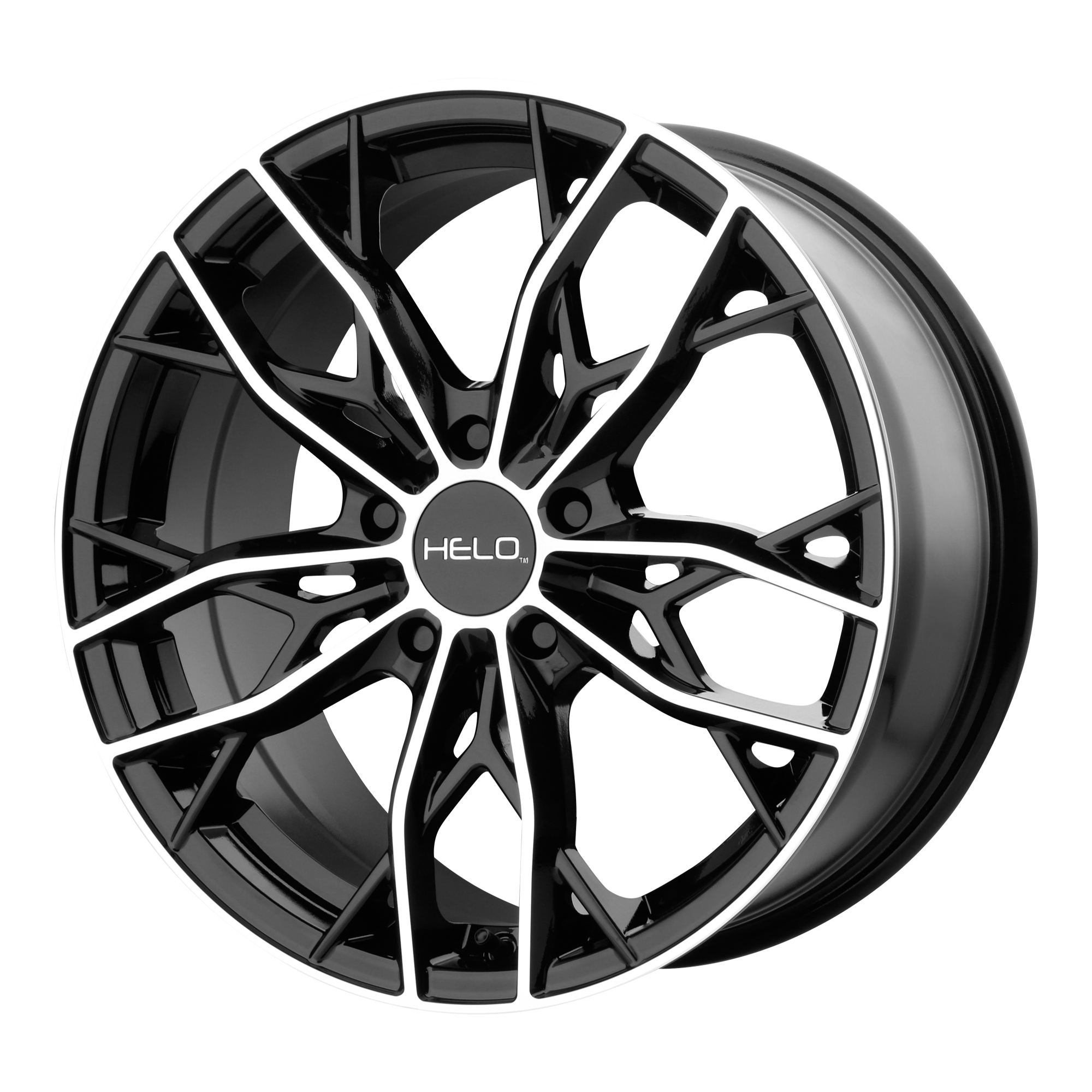 18x8 Helo Wheels HE907 Gloss Black Machined