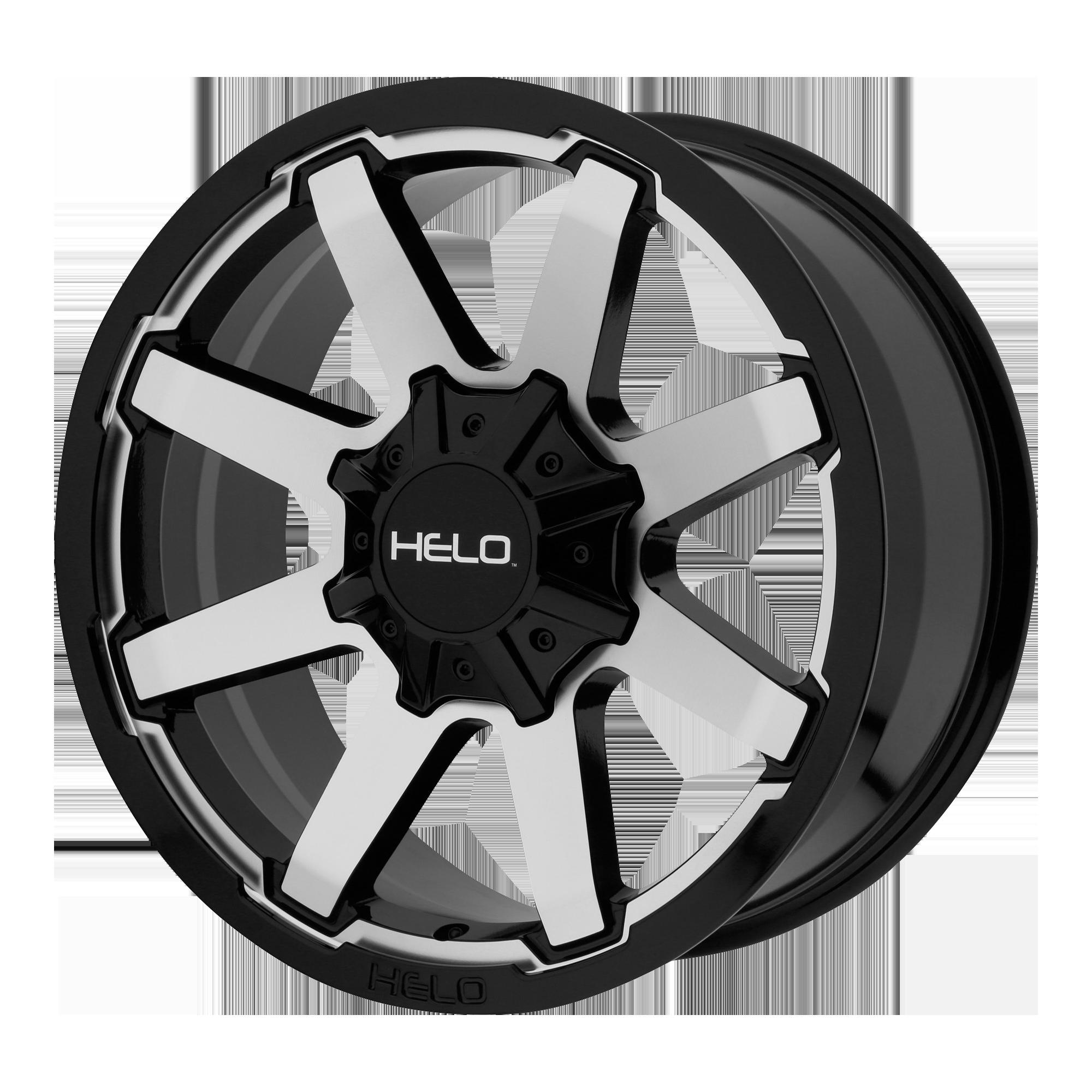 Helo Wheels HE909 Gloss Black Machined