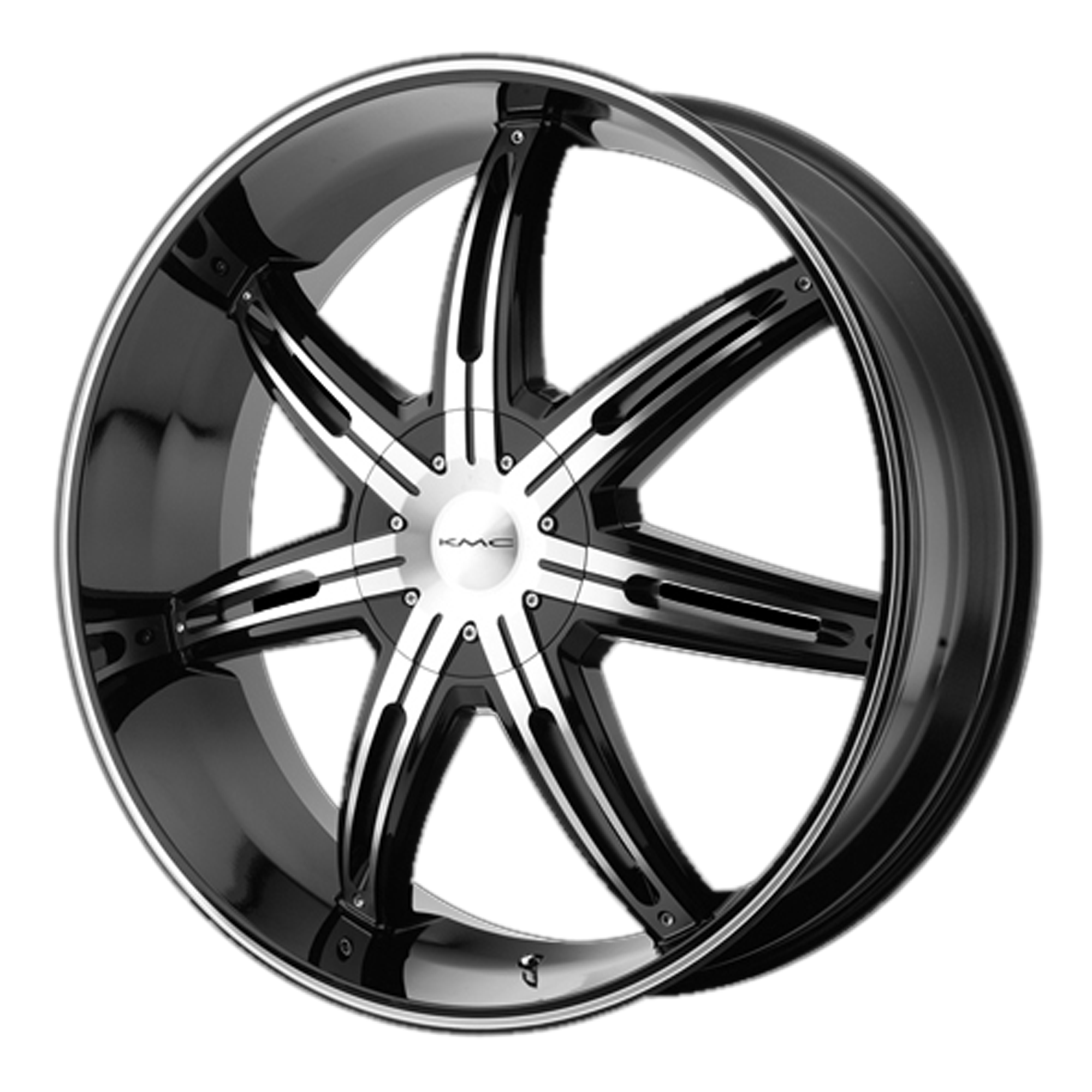 KMC Wheels SURGE Gloss Black Machined