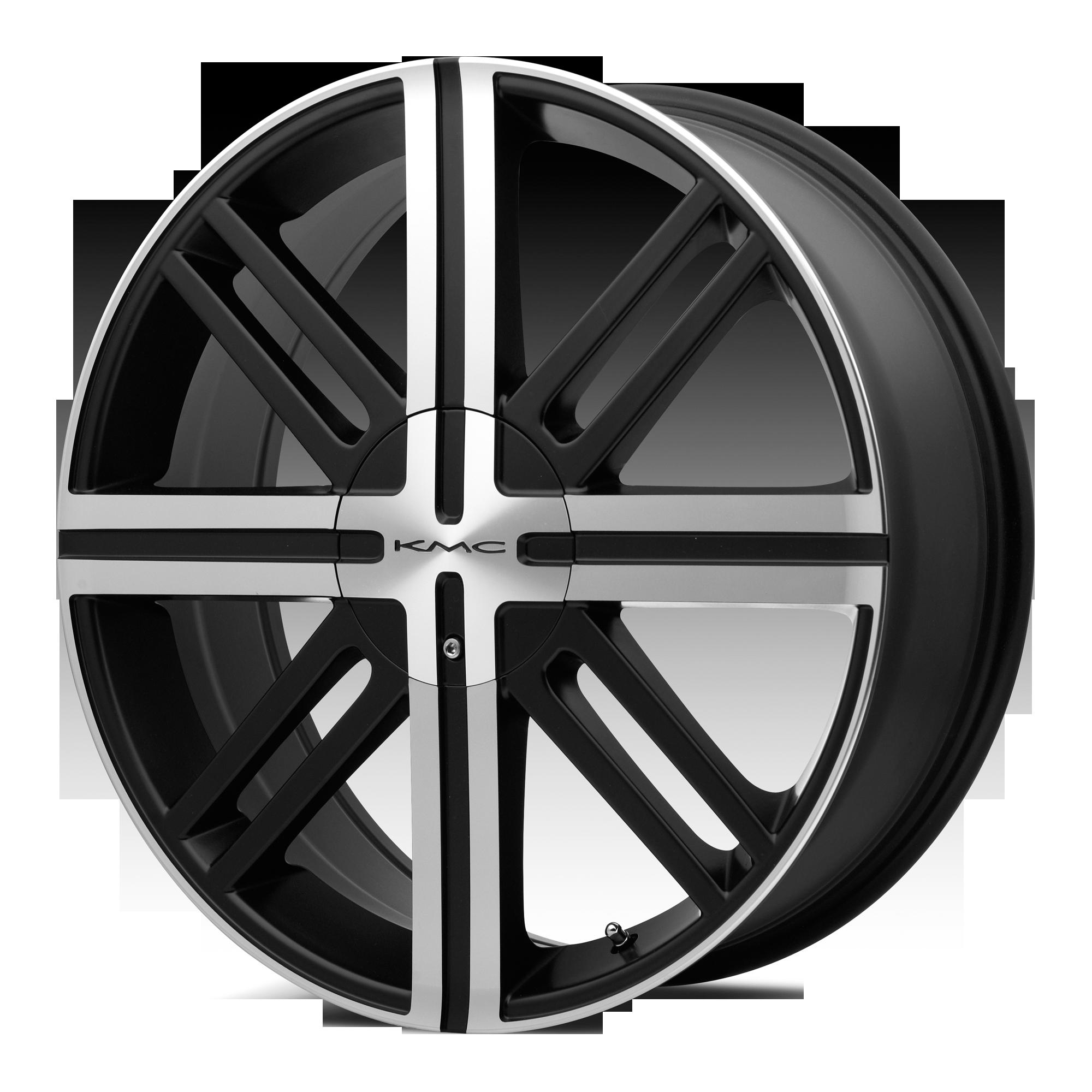 KMC Wheels SPLICE Satin Black w/ Machined Face