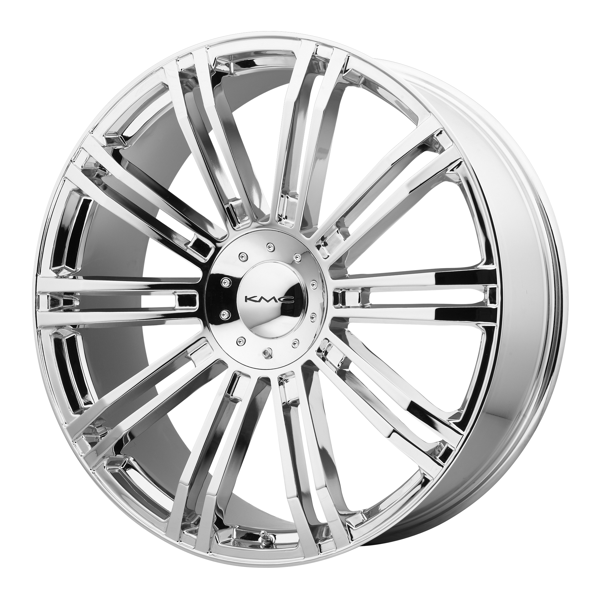20x8.5 KMC Wheels D2 Chrome