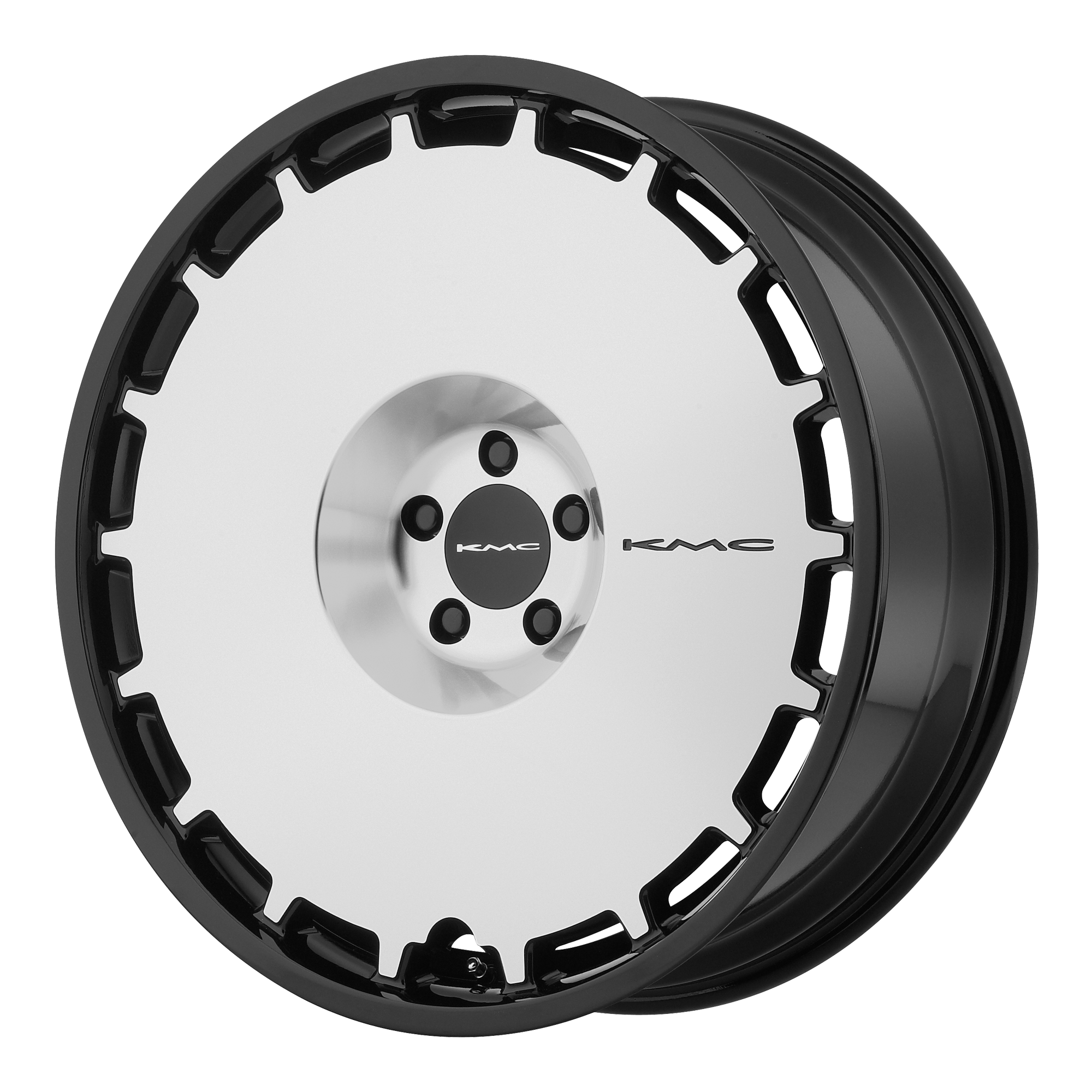 KMC Wheels SKILLET Satin Black Brushed Face