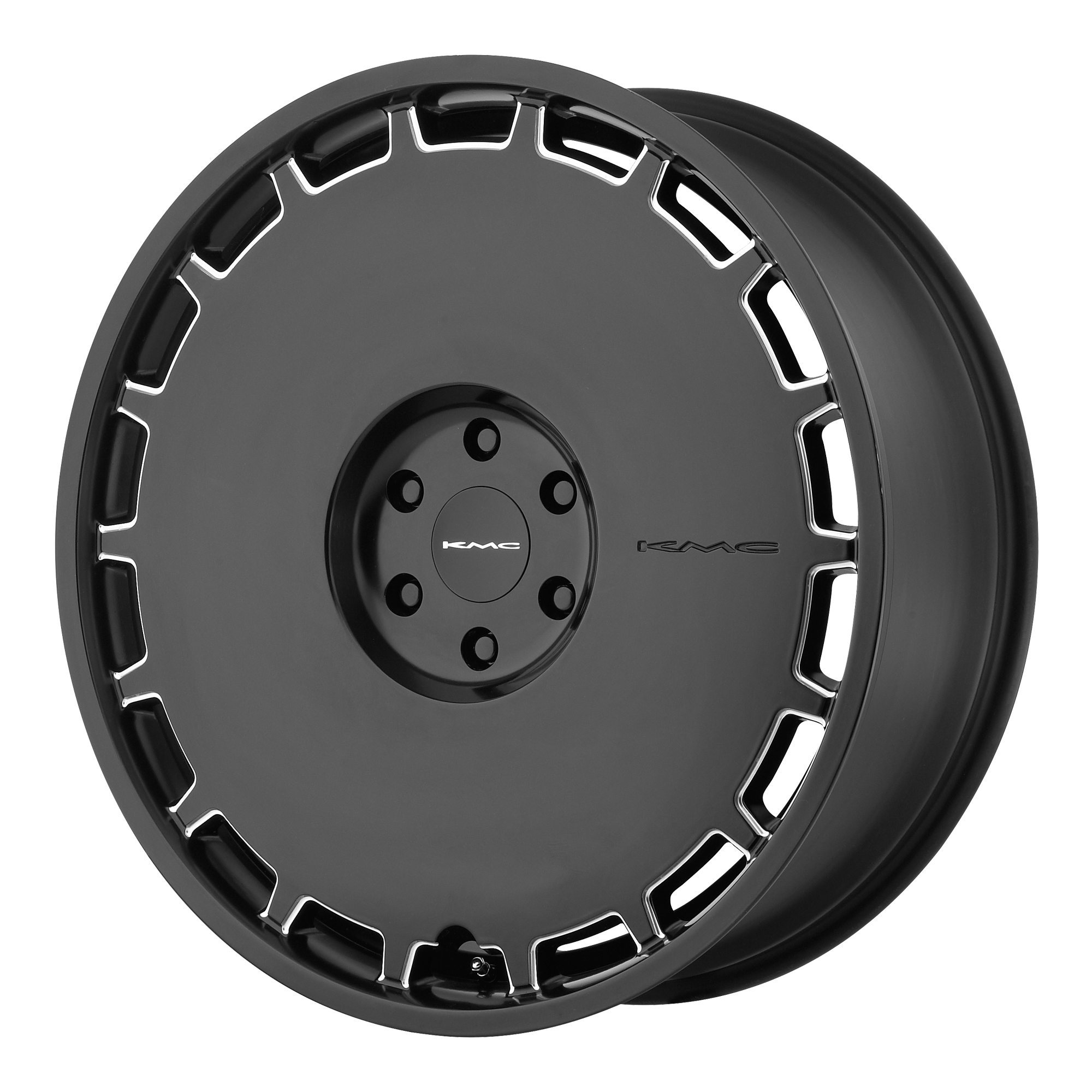 KMC Wheels SKILLET Satin Black Milled