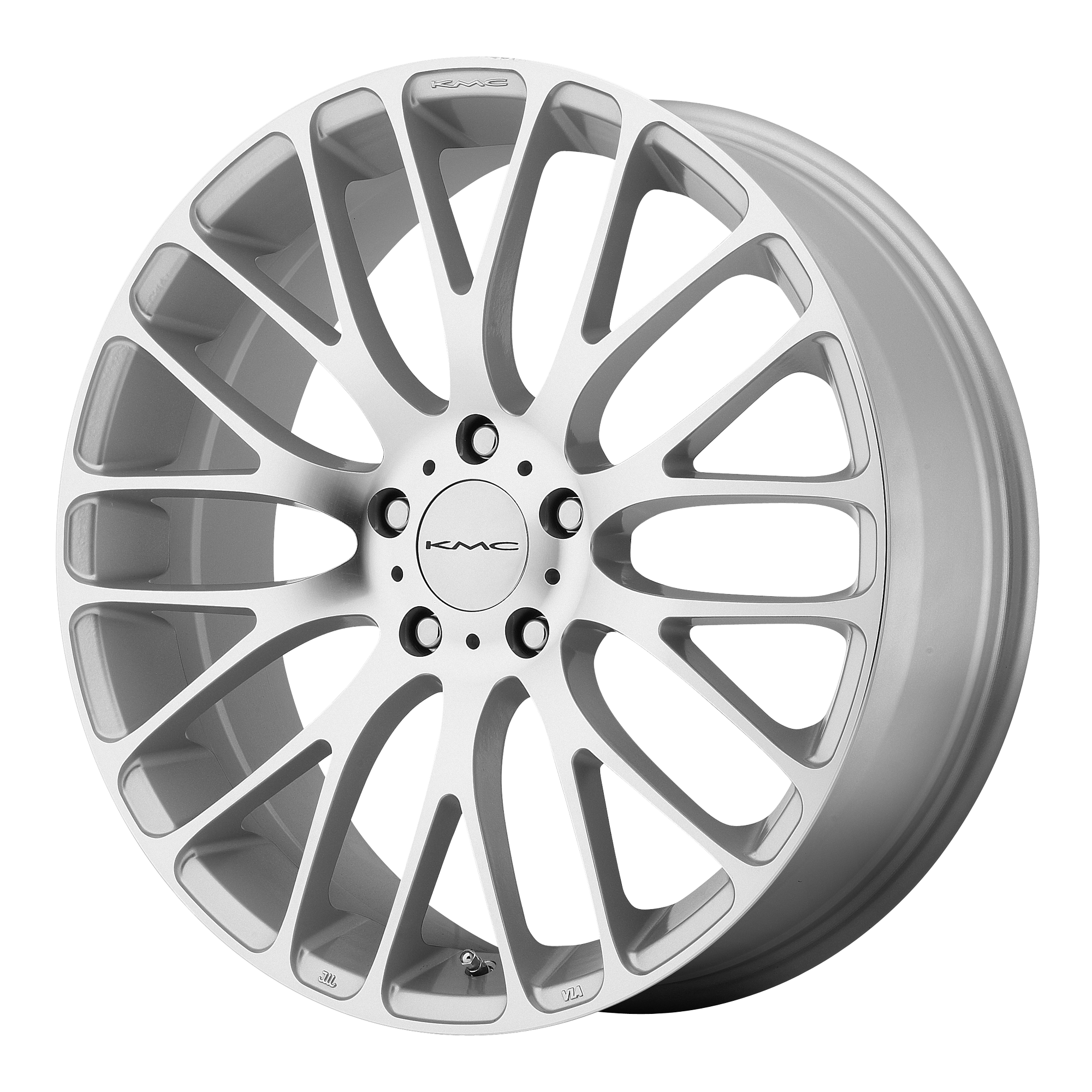 KMC Wheels MAZE Silver W Machined Face