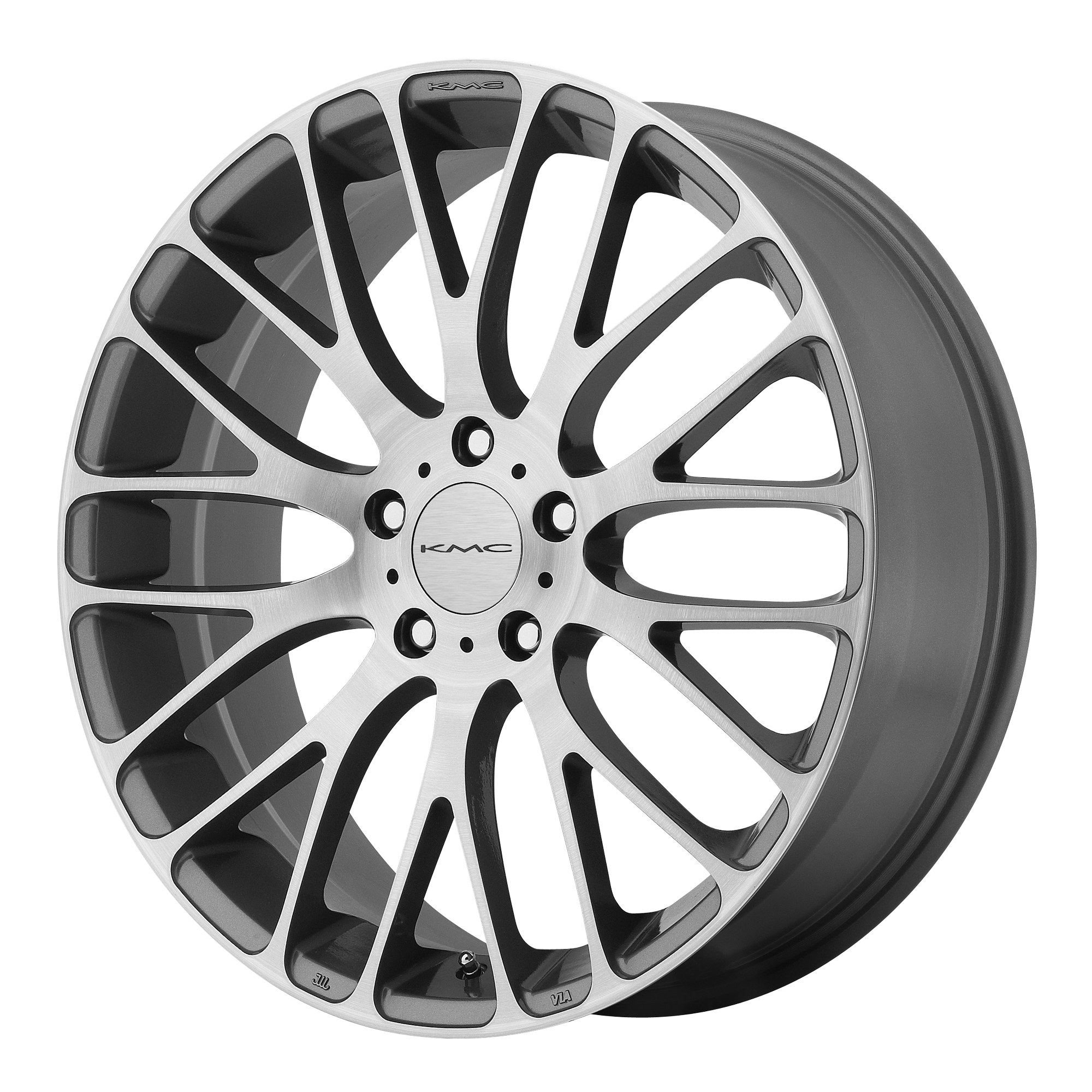 KMC Wheels MAZE PEARL Gray W Brushed Face