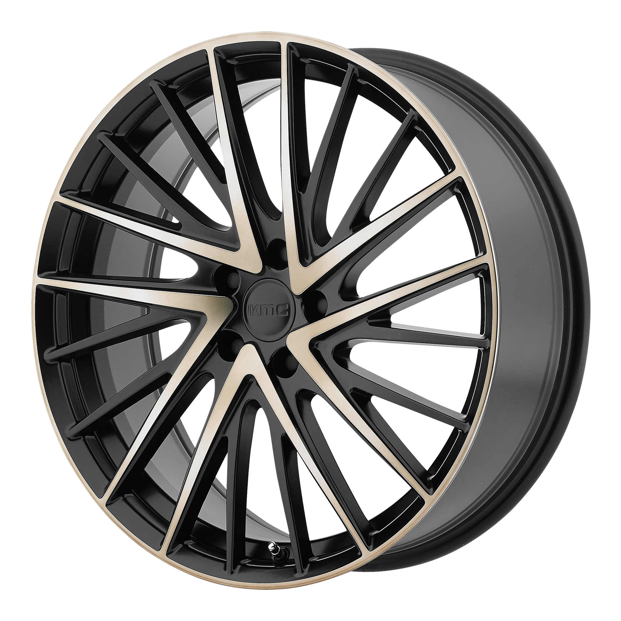 KMC Wheels NEWTON Satin Black W Machined Dark TINT Face