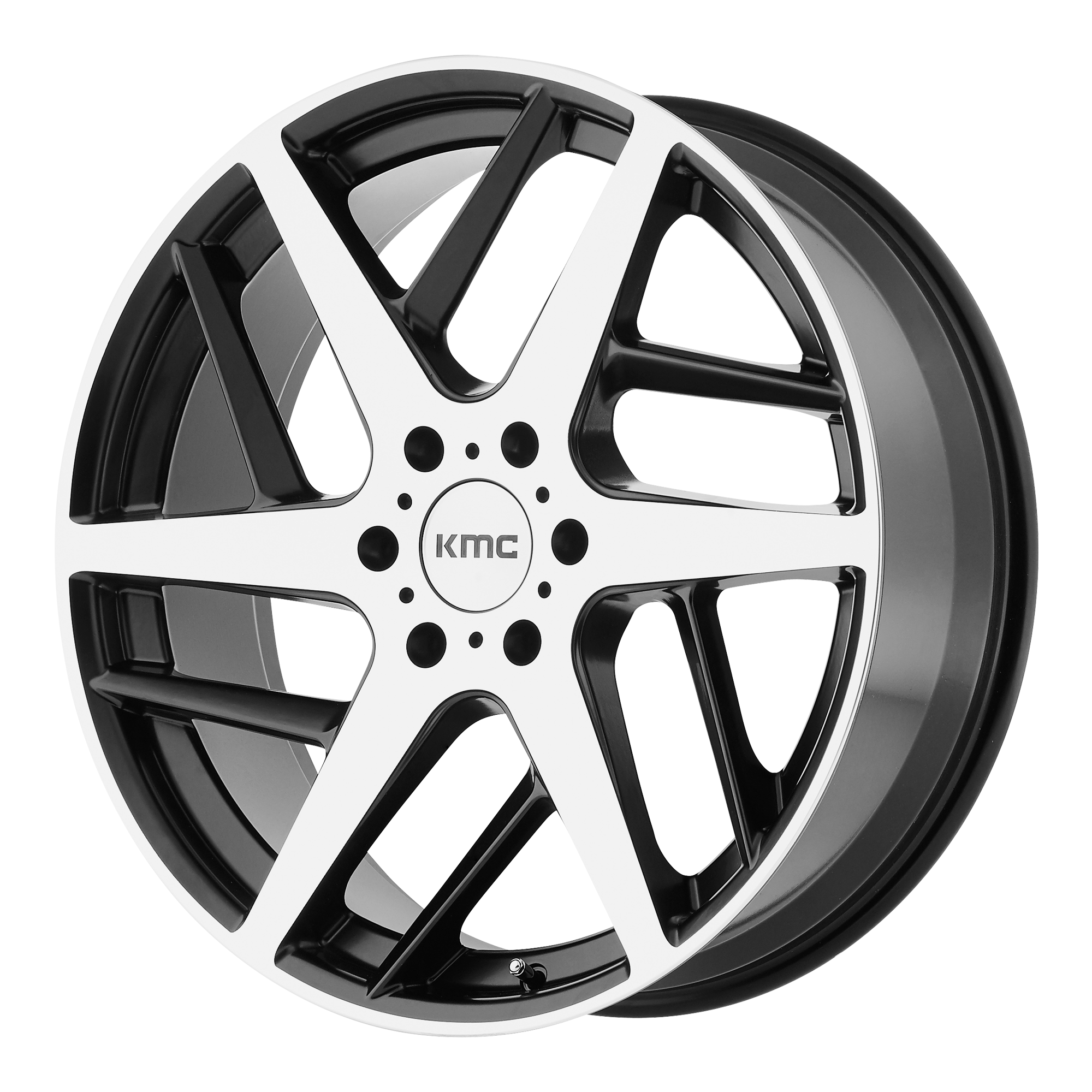 KMC Wheels TWO Face Satin Black W Machined Face