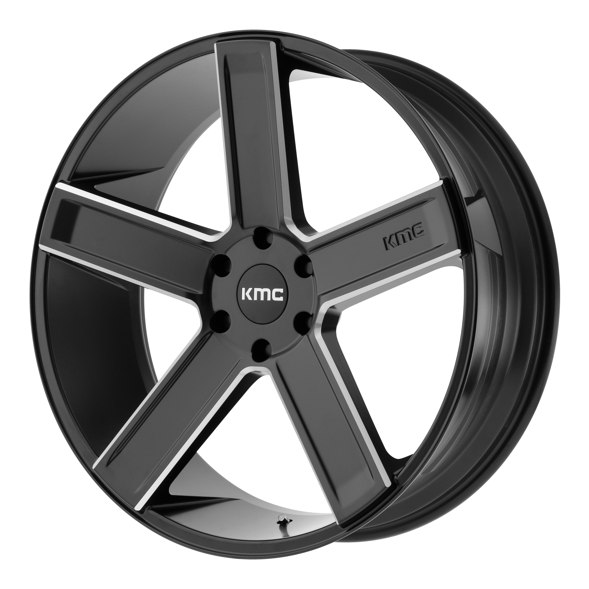 KMC Wheels DUECE Satin Black Milled