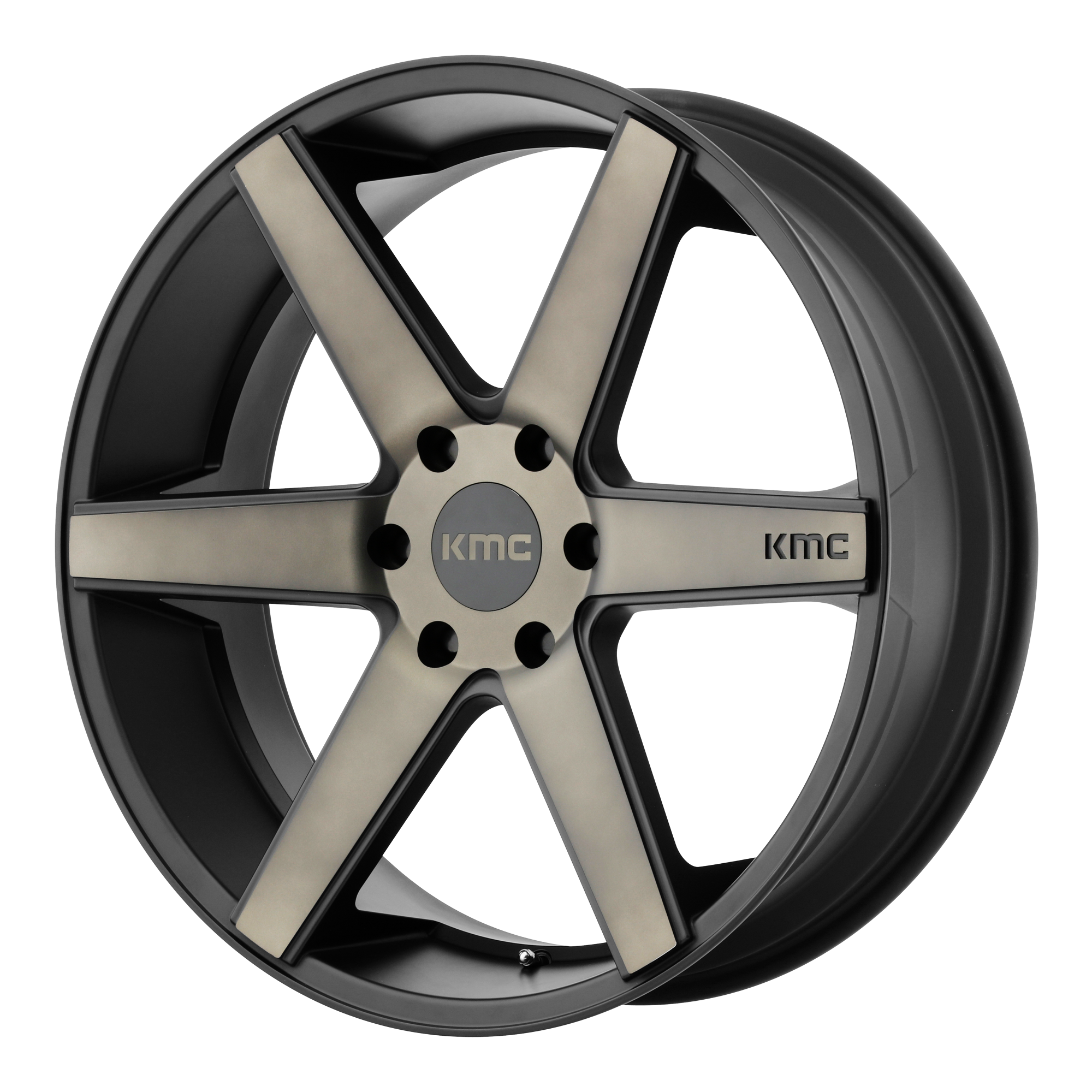KMC Wheels DISTRICT TRUCK Matte Black w/ Dark TINT Clear Coat Face