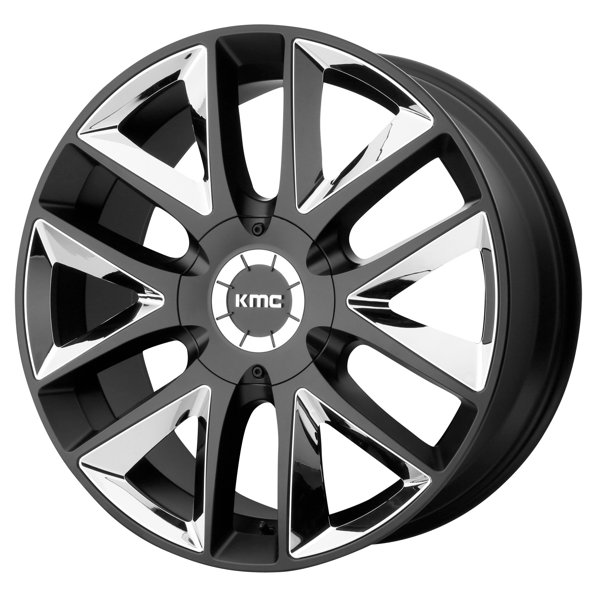 KMC Wheels TAKEDOWN Satin Black w/ Chrome INSERTS