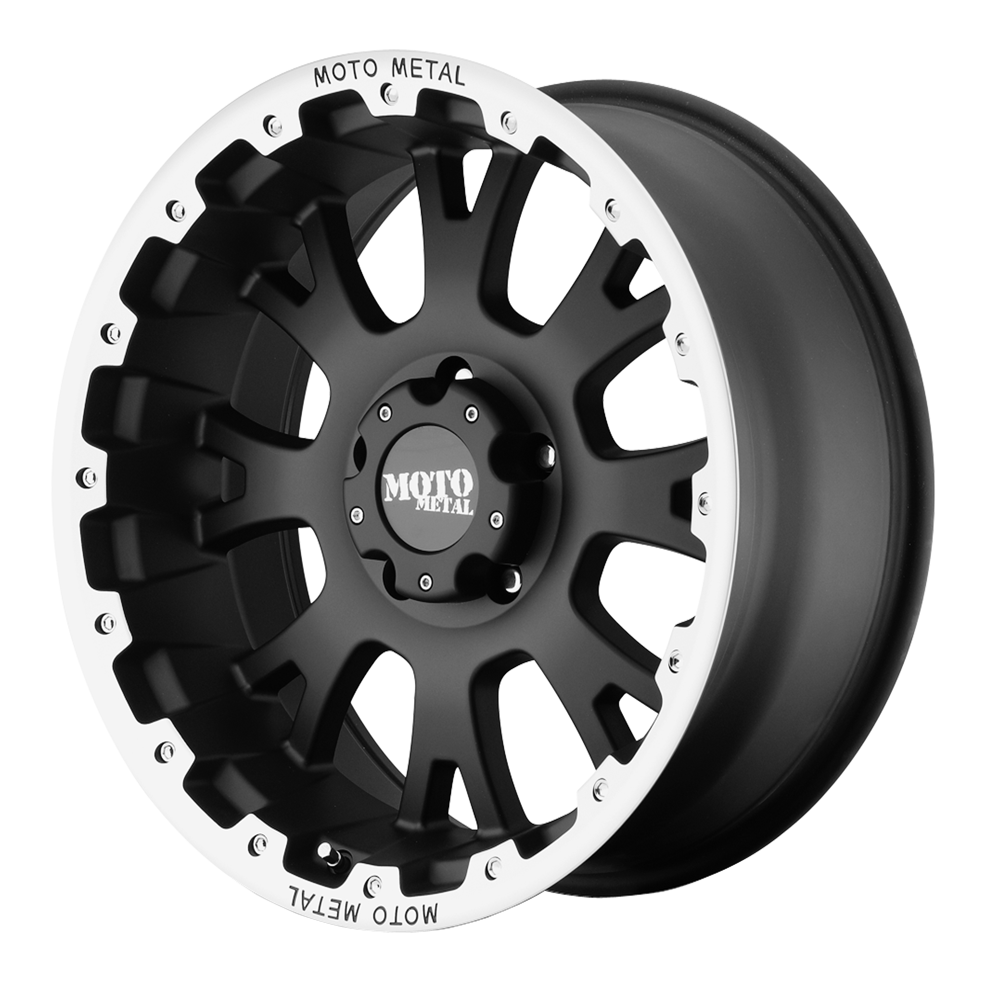Moto Metal Offroad Wheels MO956 Matte Black w/ Machined Lip