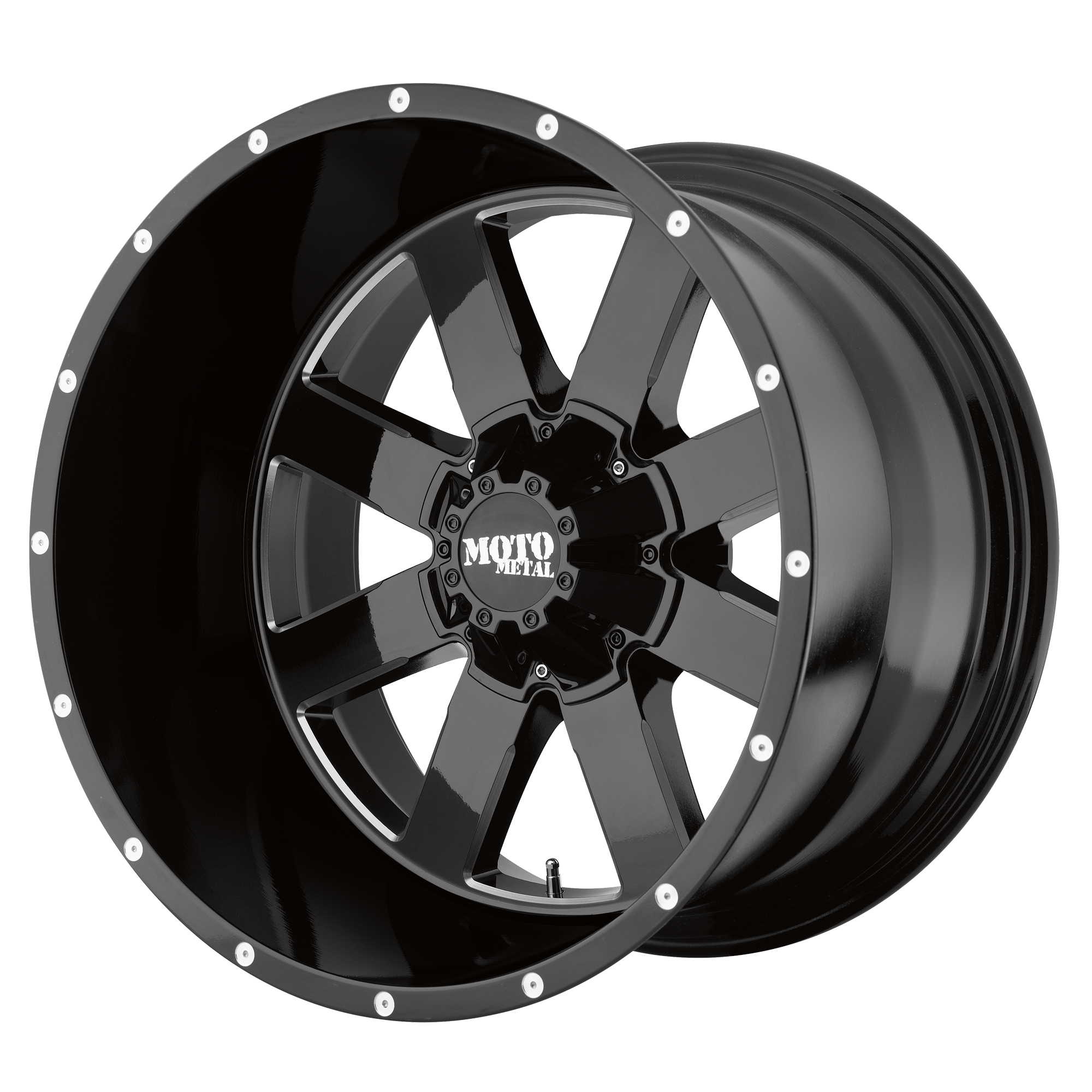 Moto Metal Offroad Wheels MO962 Gloss Black w/ Milled Accents