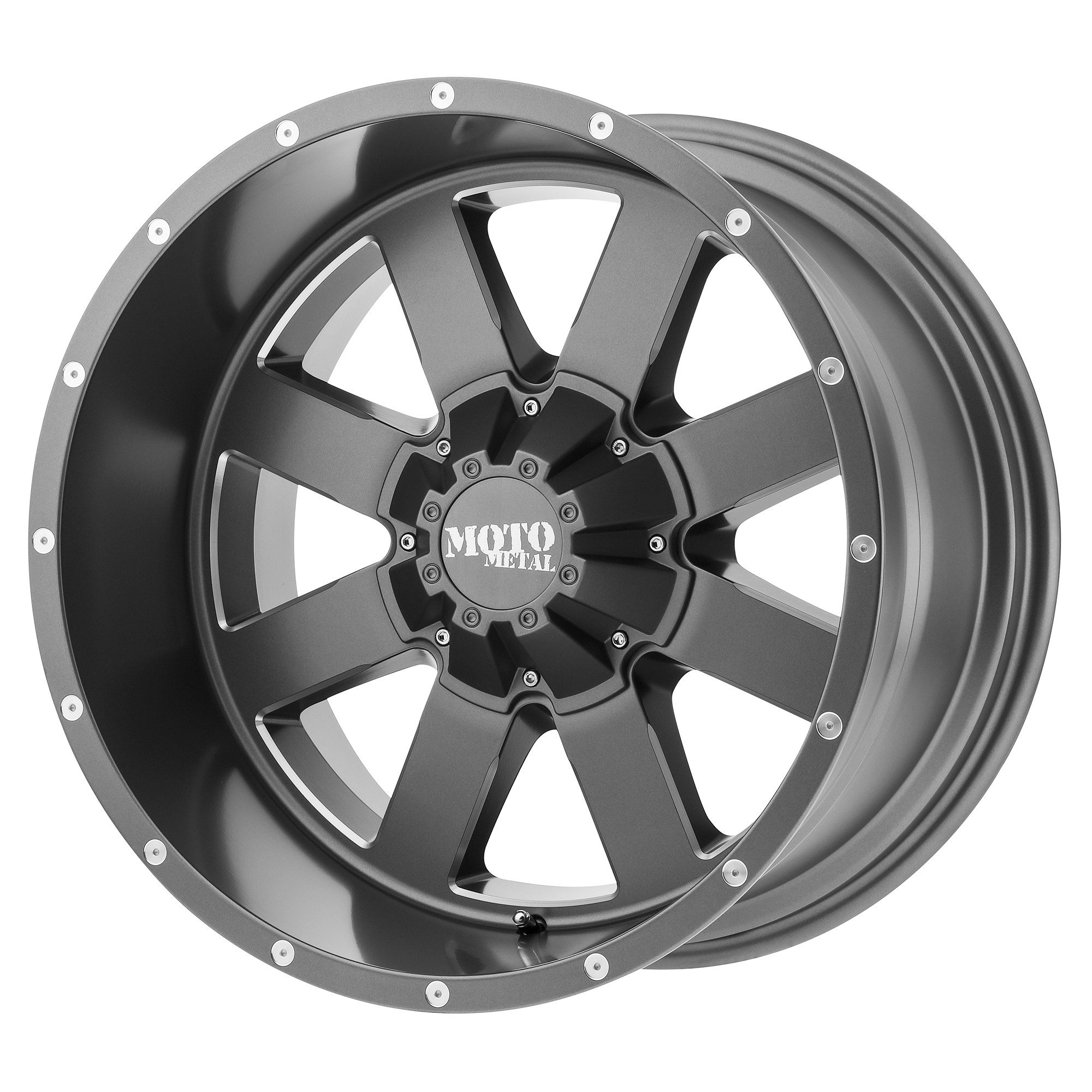 Moto Metal Offroad Wheels MO962 Satin Gray w/ Milled Accents