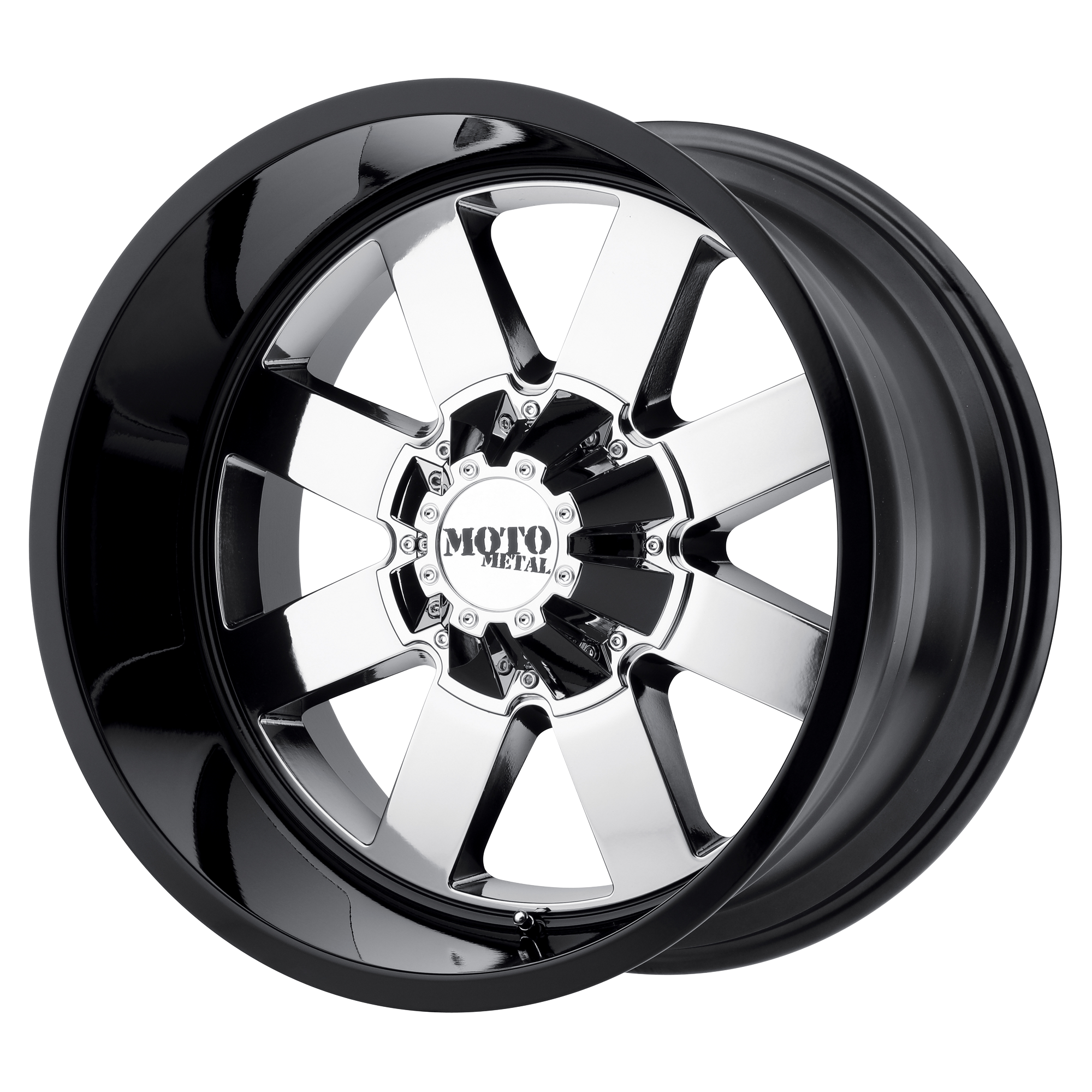 Moto Metal Offroad Wheels MO962 PVD CENTER w/ Gloss Black Lip