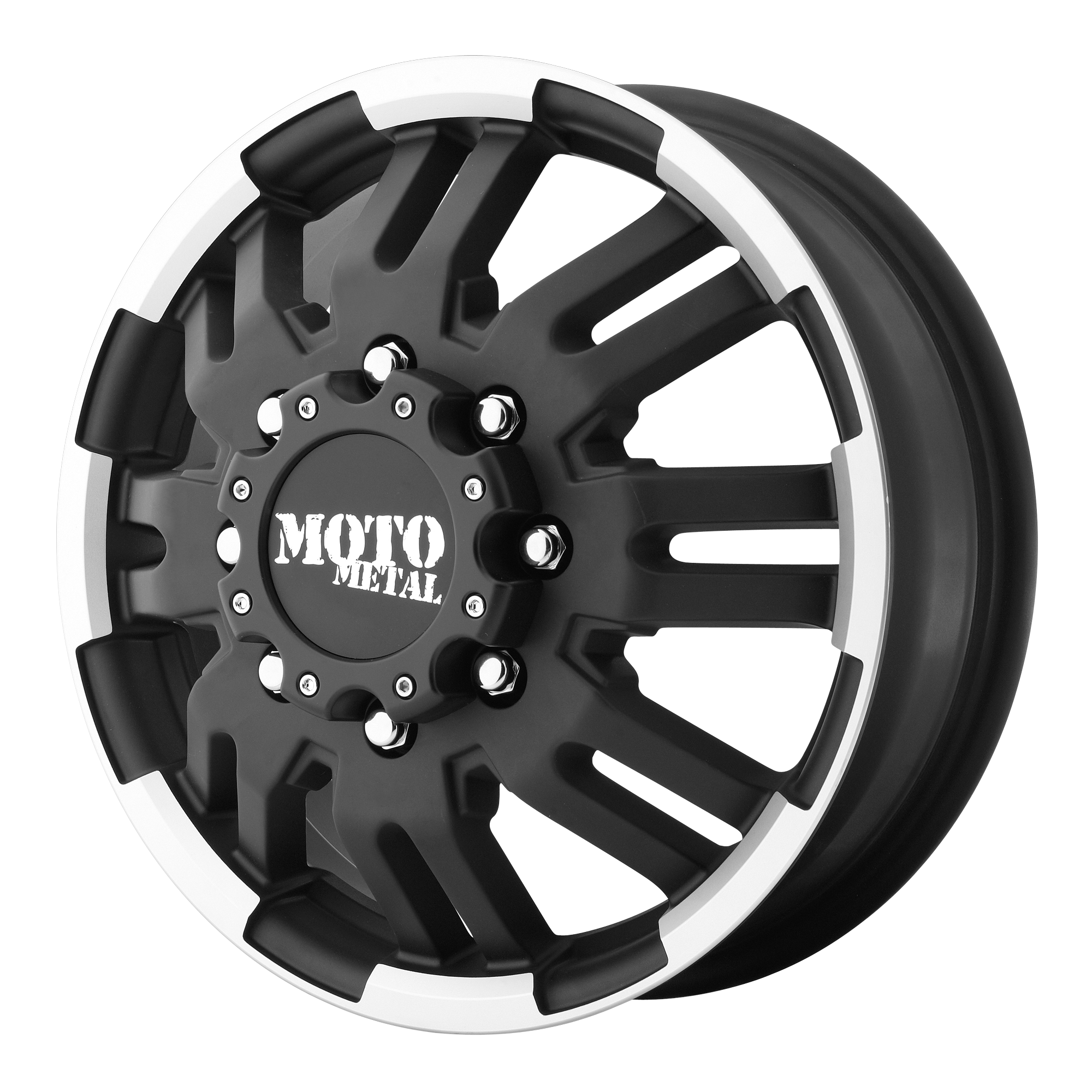 Moto Metal Offroad Wheels MO963 DUALLY Matte Black Machined DUALLY (FR)