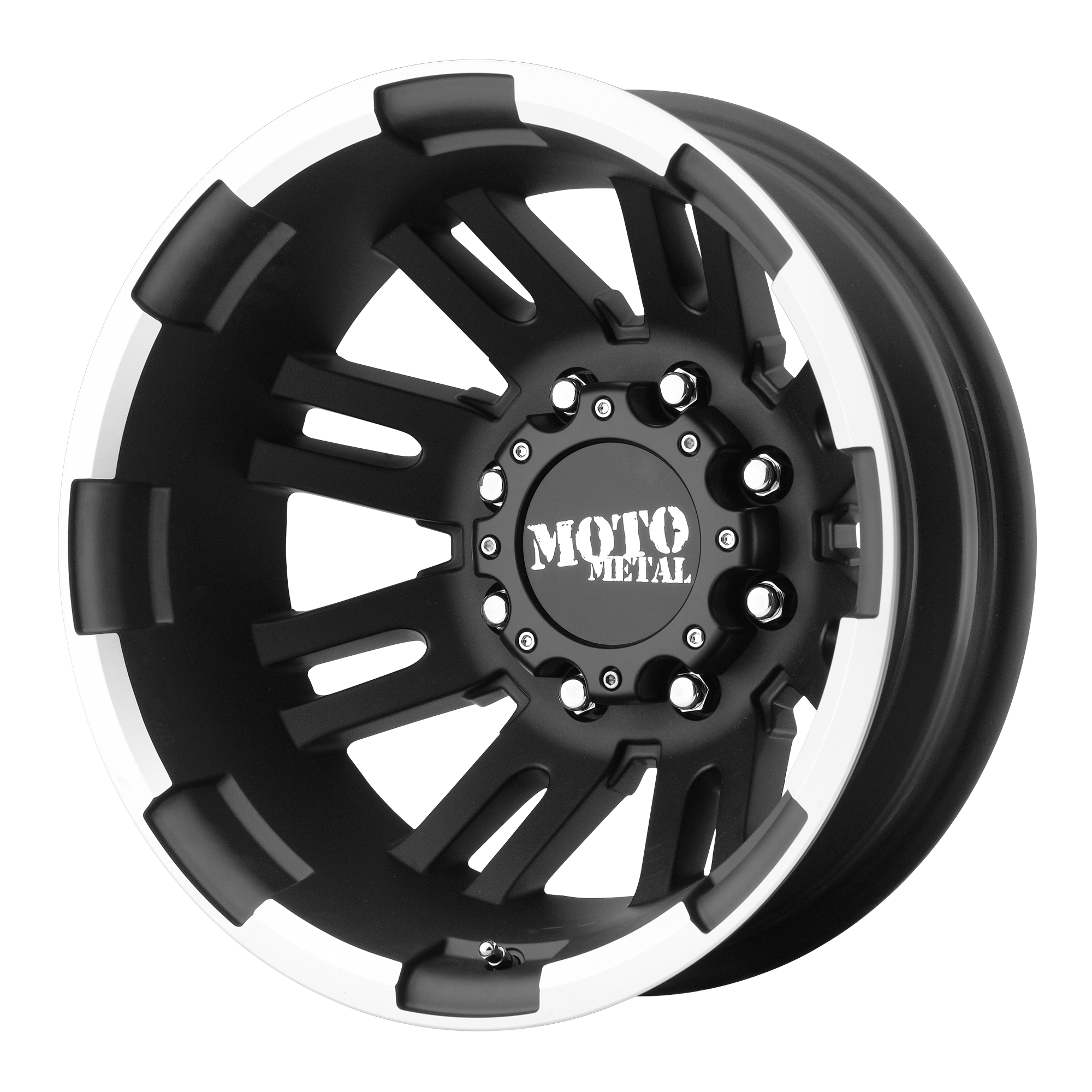 Moto Metal Offroad Wheels MO963 DUALLY Matte Black Machined DUALLY (RR)