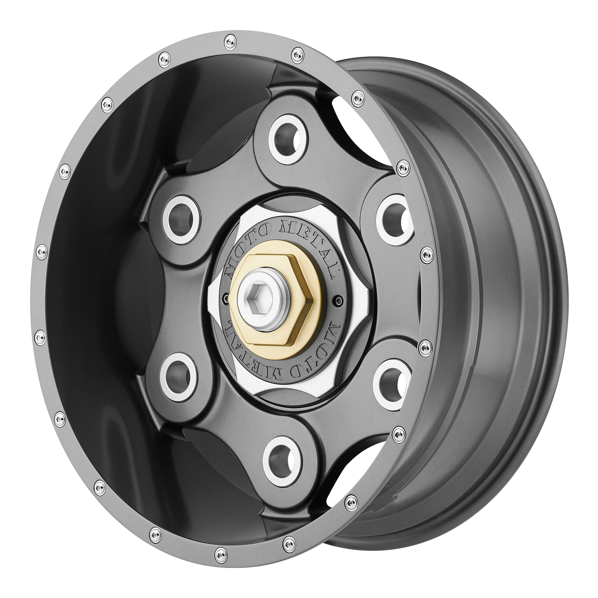 Moto Metal Offroad Wheels LINK GUN METAL