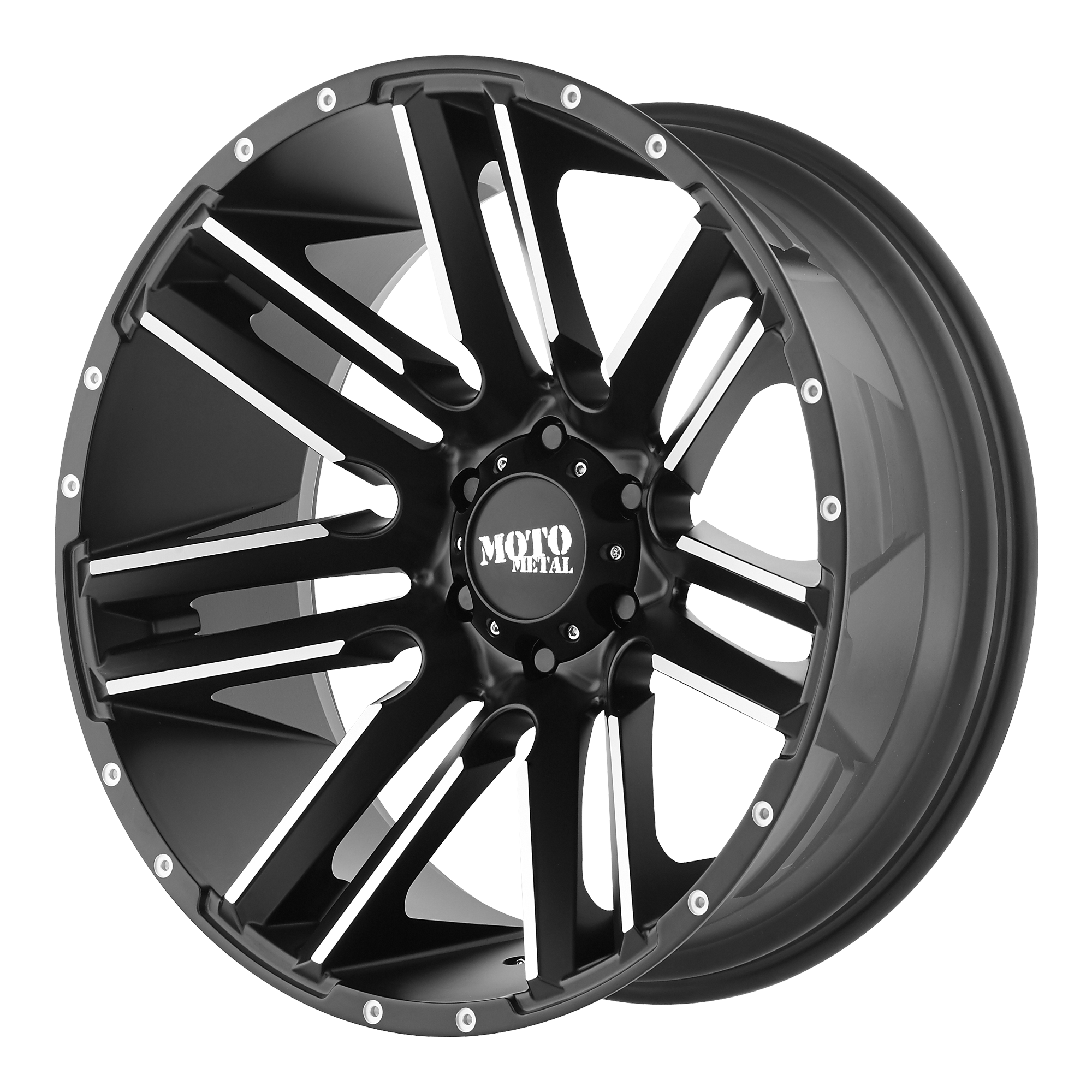 Moto Metal Offroad Wheels RAZOR Satin Black Machined