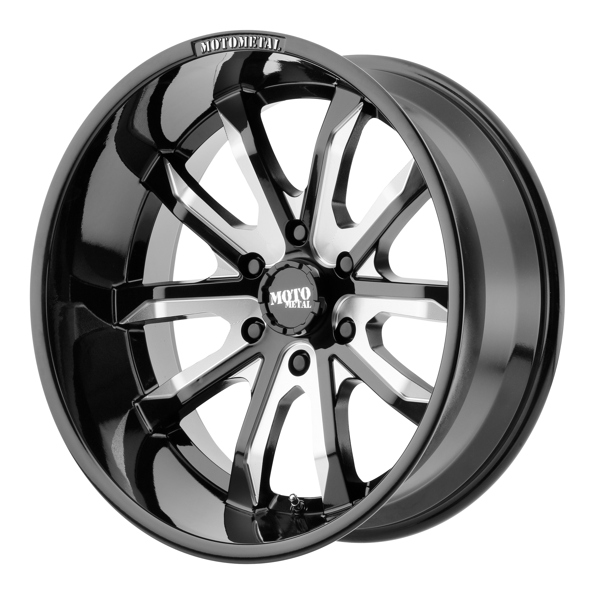 Moto Metal Offroad Wheels DAGGER Gloss Black Milled