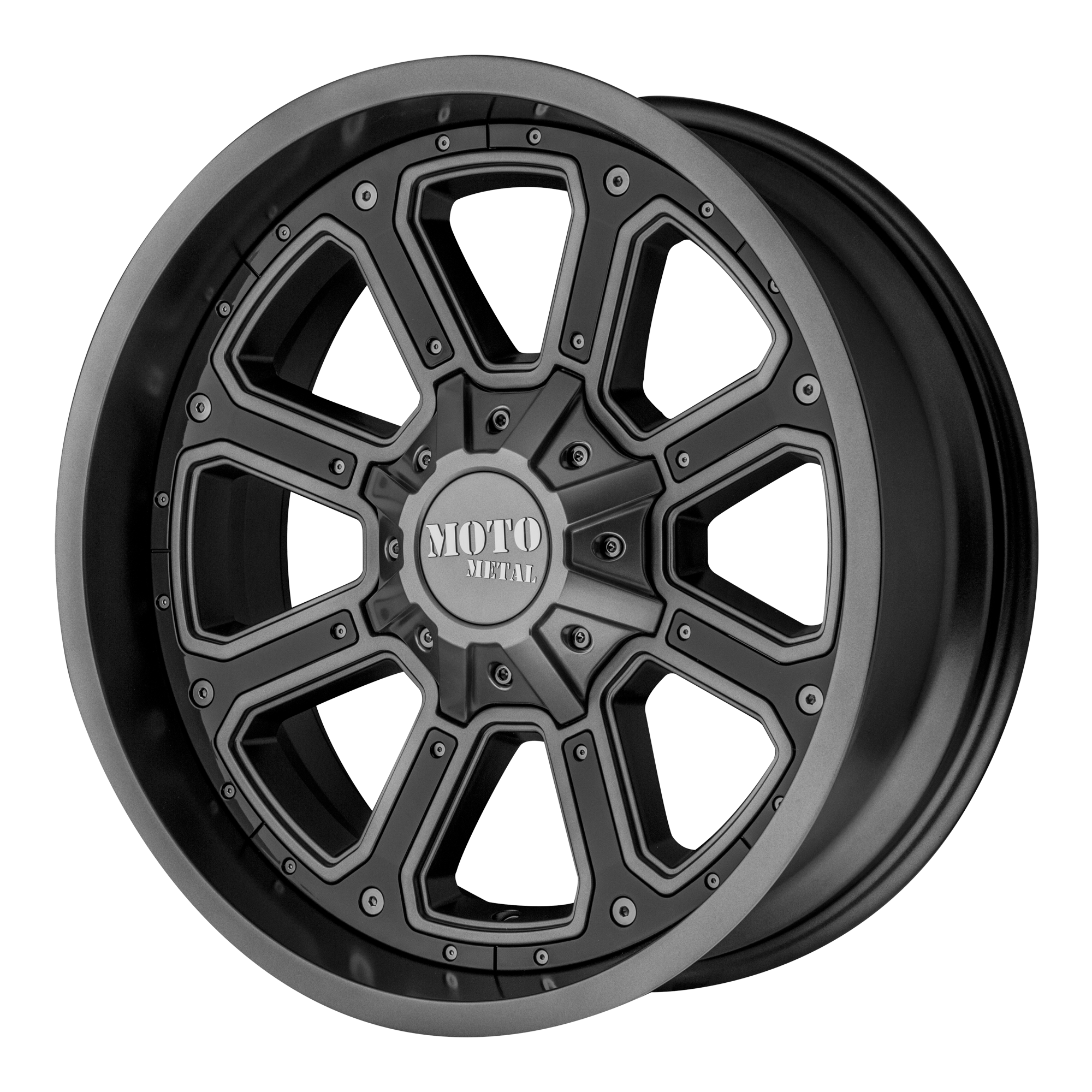 Moto Metal Offroad Wheels SHIFT Matte Gray w/ G-BLK INSERTS