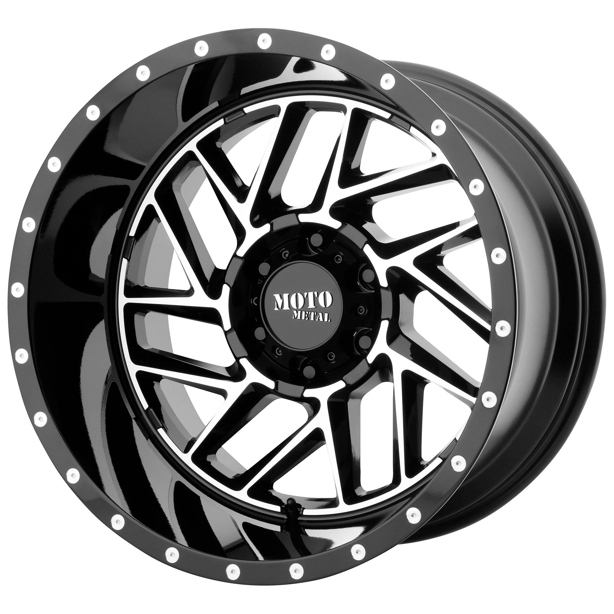 Moto Metal Offroad Wheels BREAKOUT Gloss Black Machined