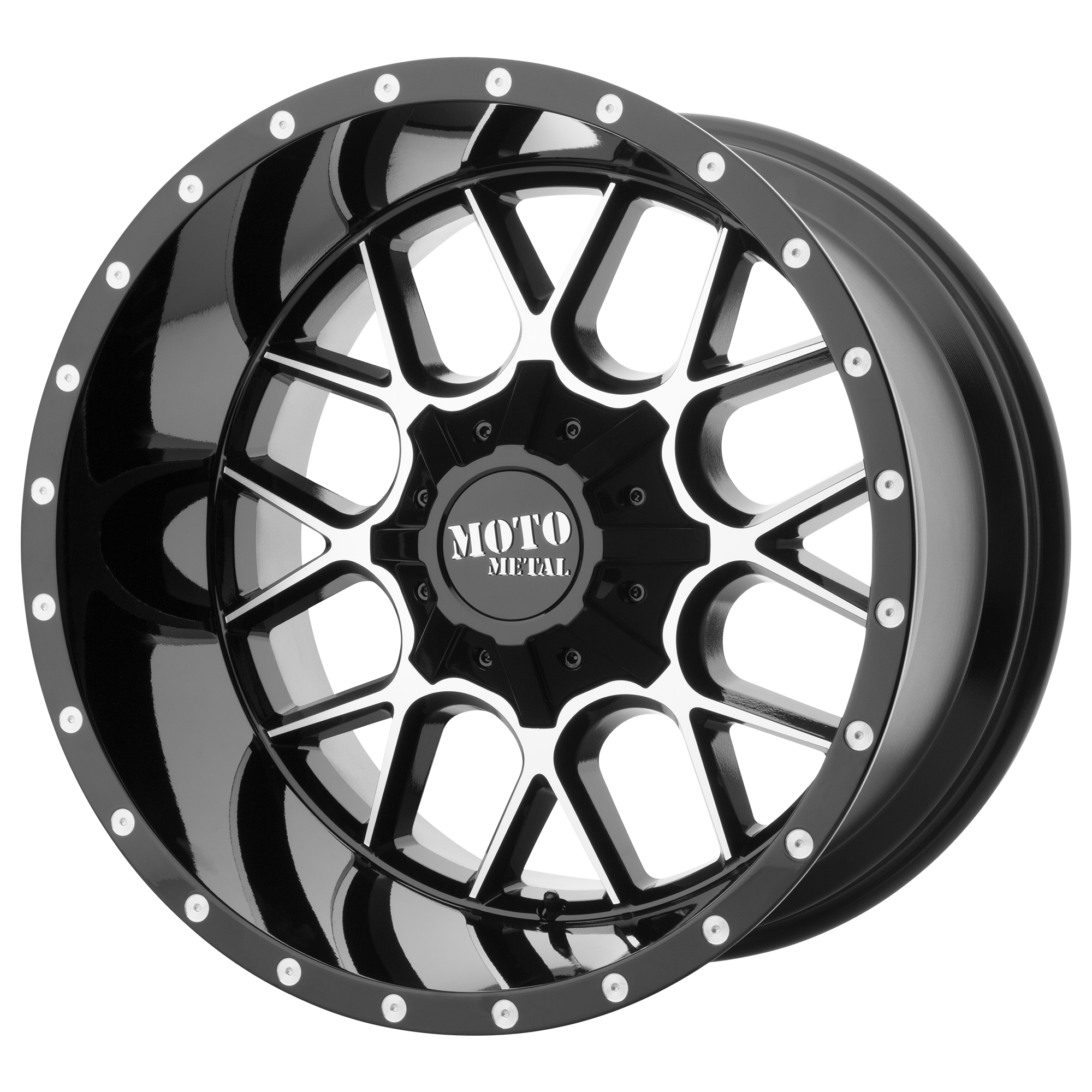 Moto Metal Offroad Wheels SIEGE Gloss Black Machined