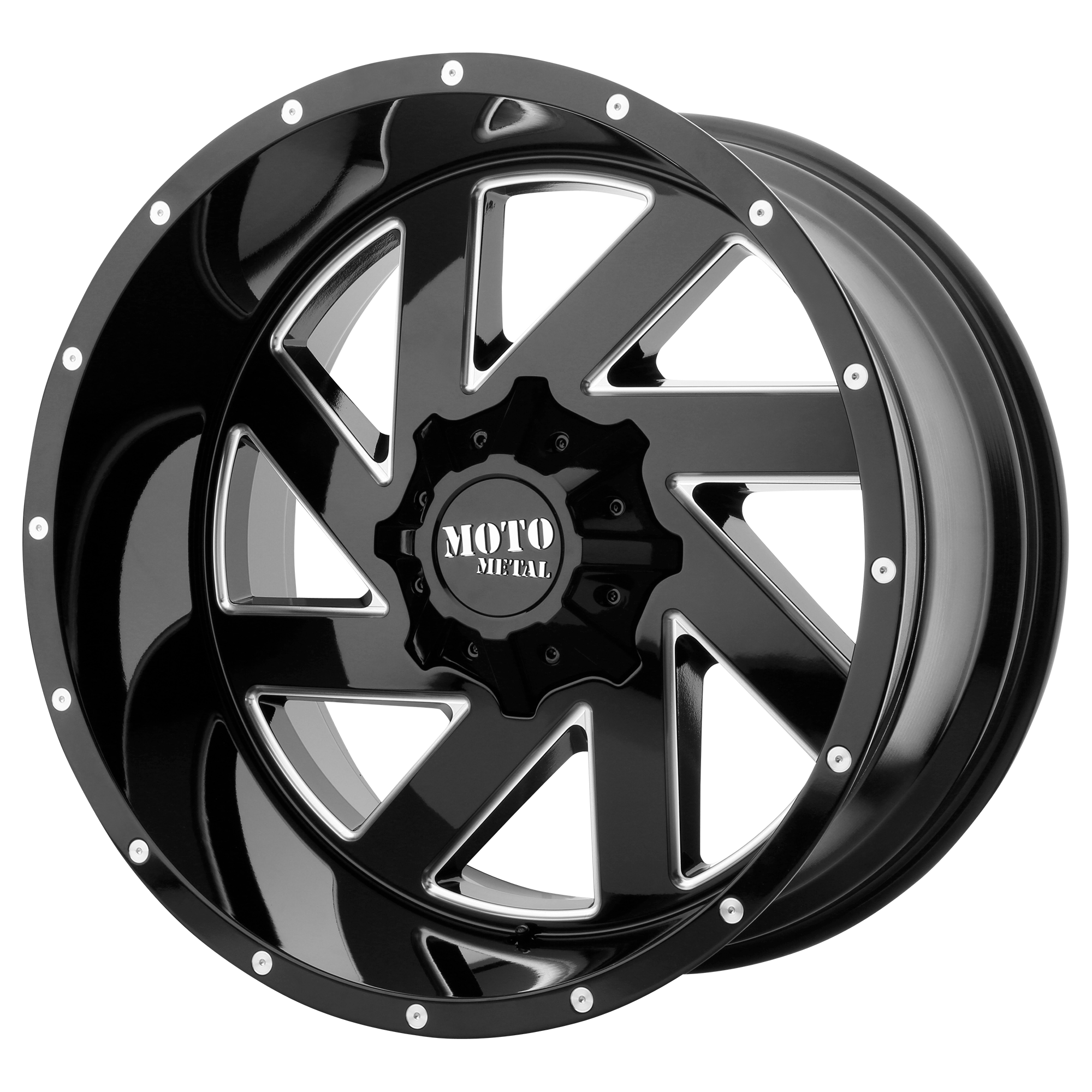 Moto Metal Offroad Wheels MELEE Gloss Black Milled