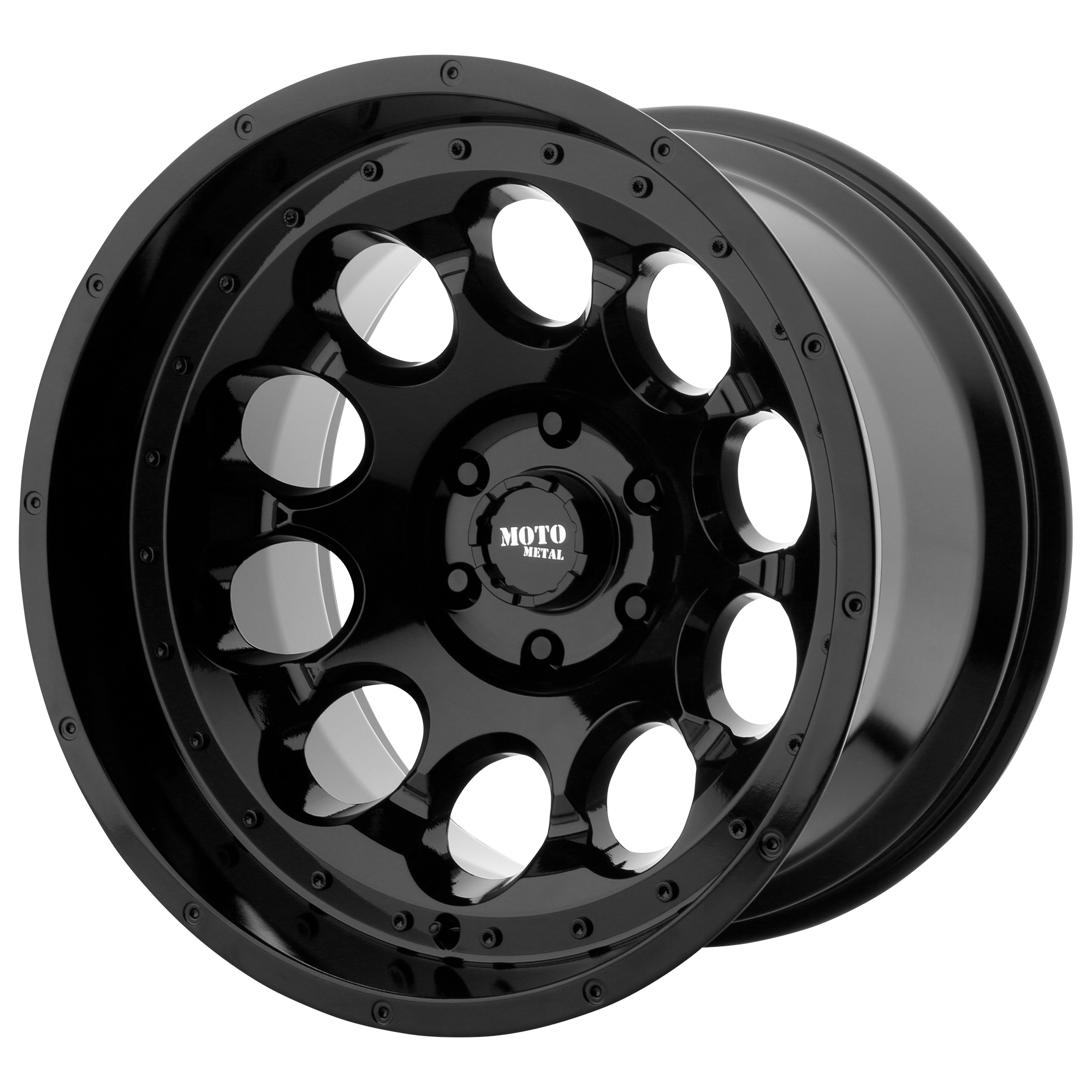 Moto Metal Offroad Wheels ROTARY Gloss Black