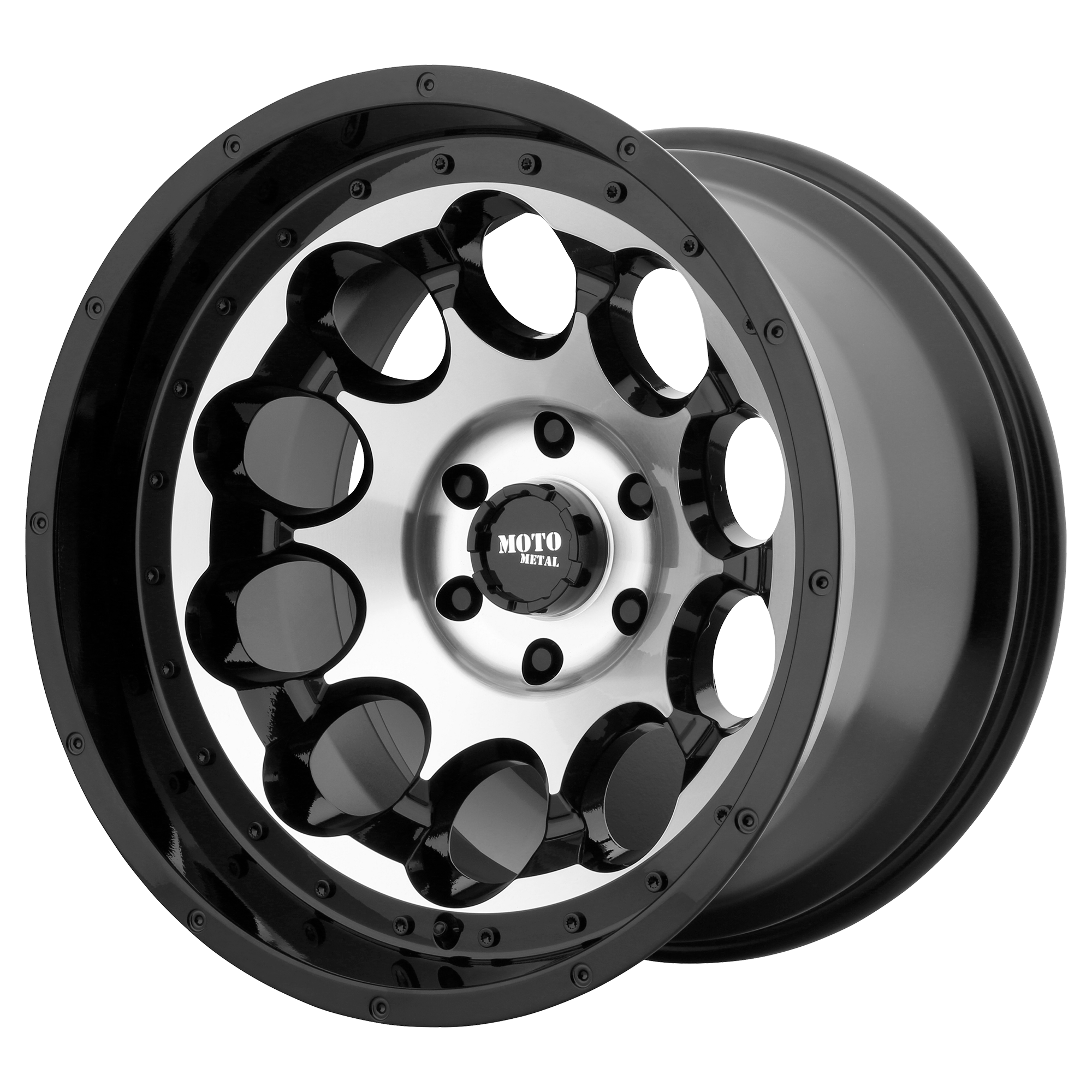 Moto Metal Offroad Wheels ROTARY Gloss Black Machined