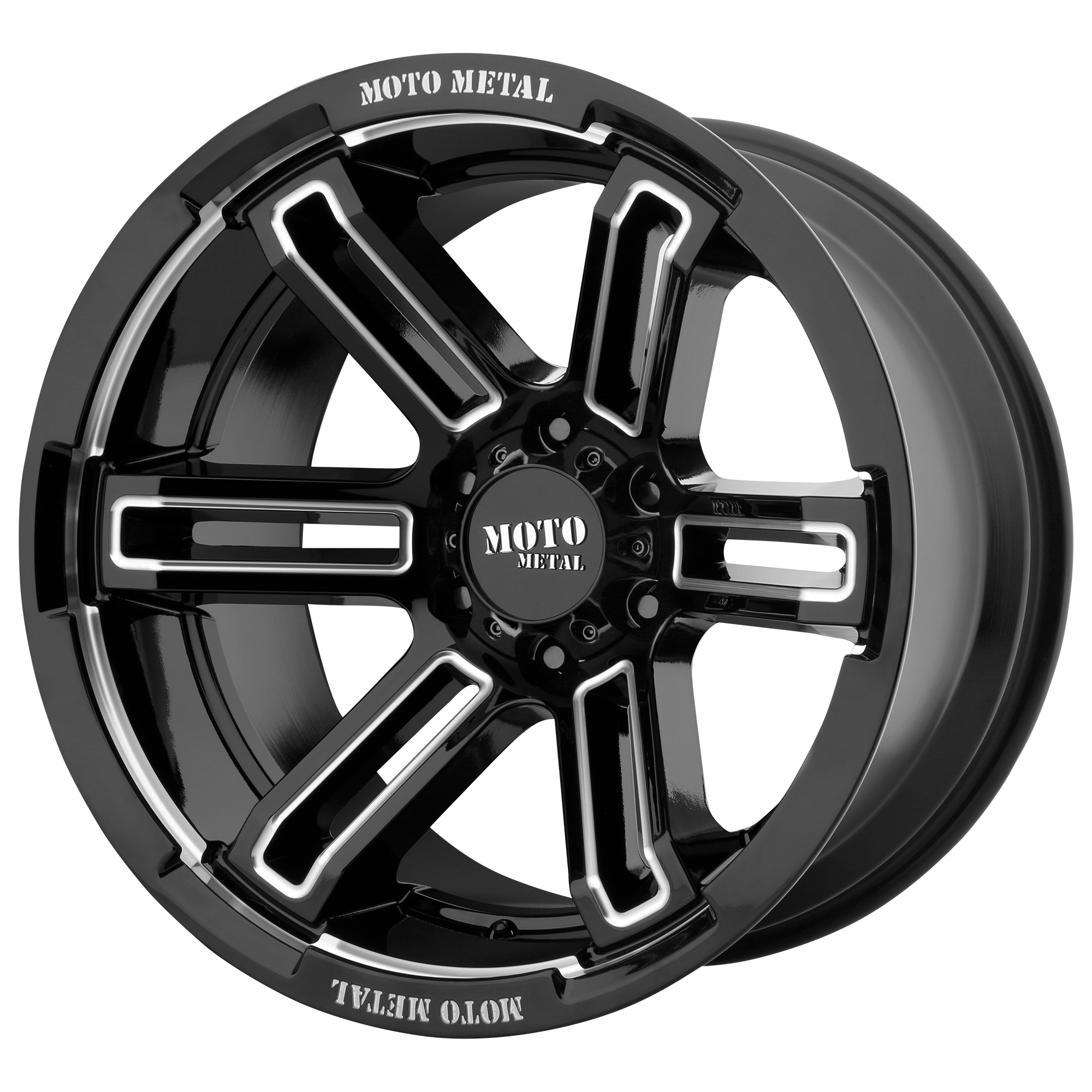 Moto Metal Offroad Wheels RUKUS Gloss Black Milled