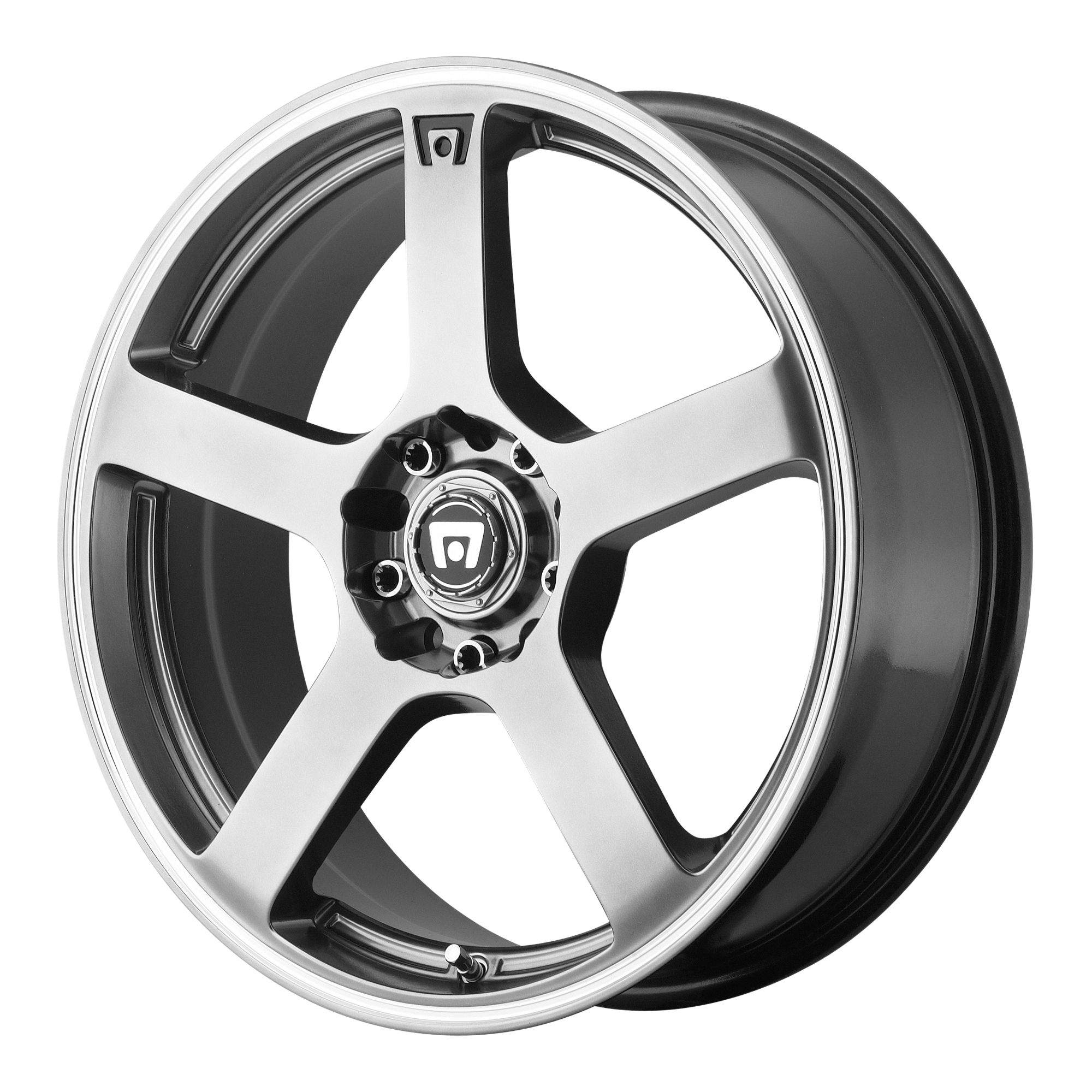 Motegi Racing Wheels MR116 Dark Silver w/ Machined Flange