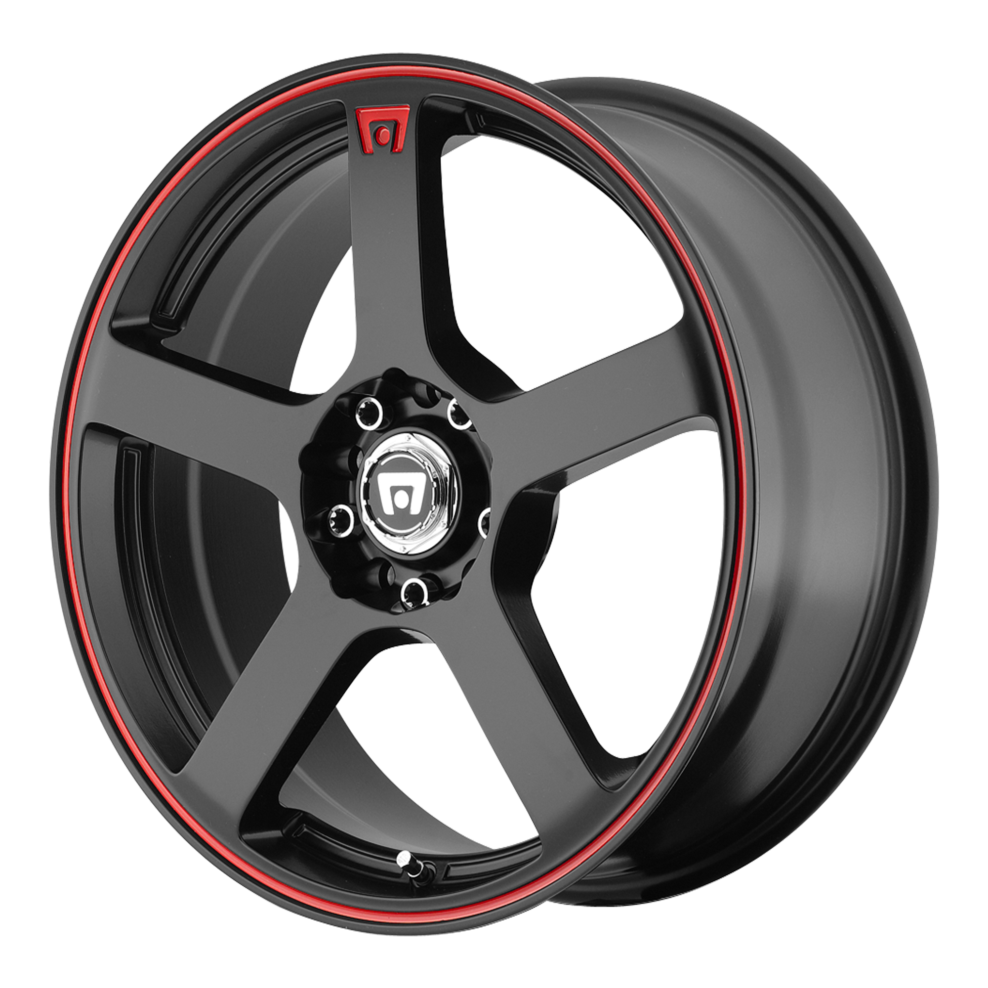 Motegi Racing Wheels MR116 Matte Black w/ Red Stripe