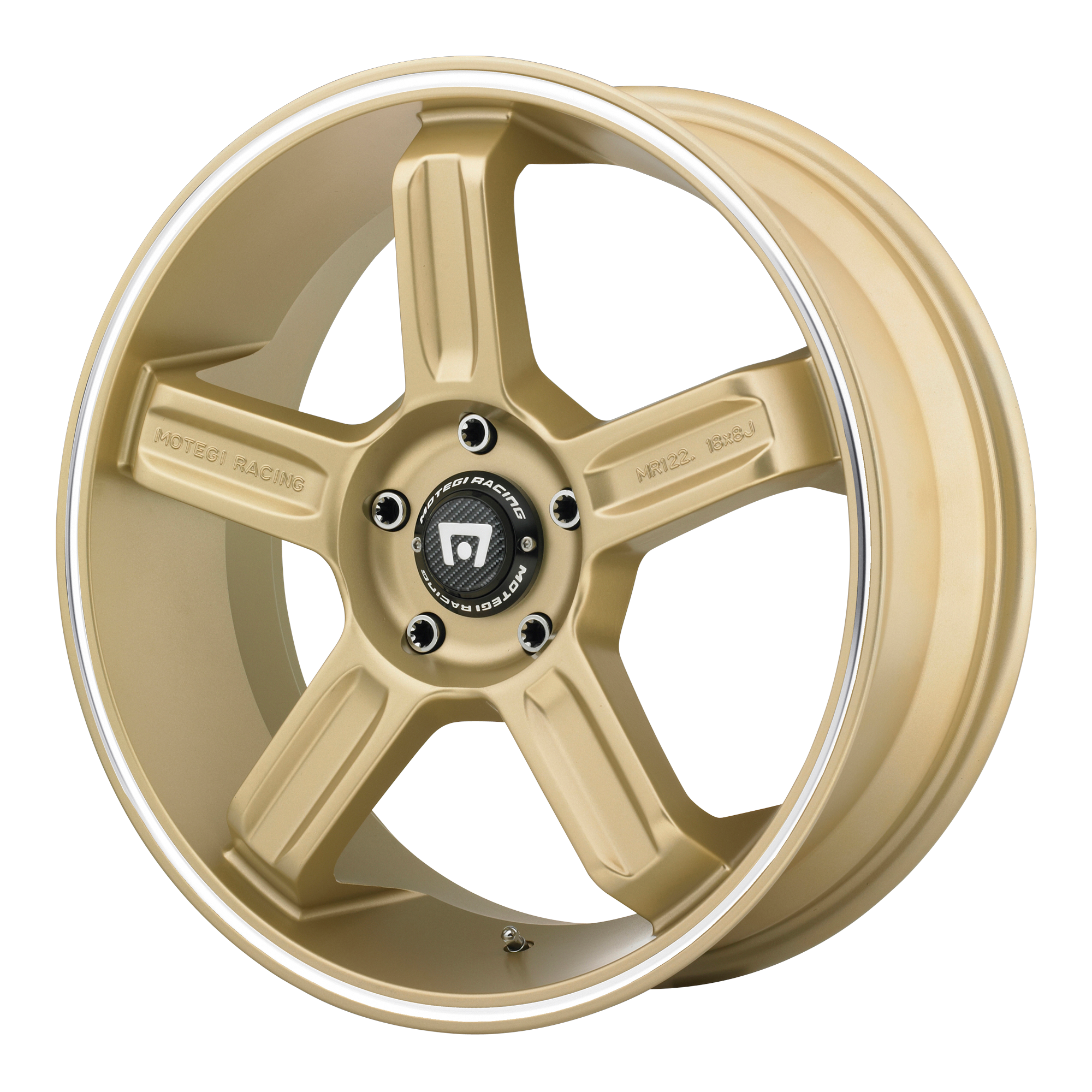 Motegi Racing Wheels MR122 Gold w/ Machined Lip GROOVE