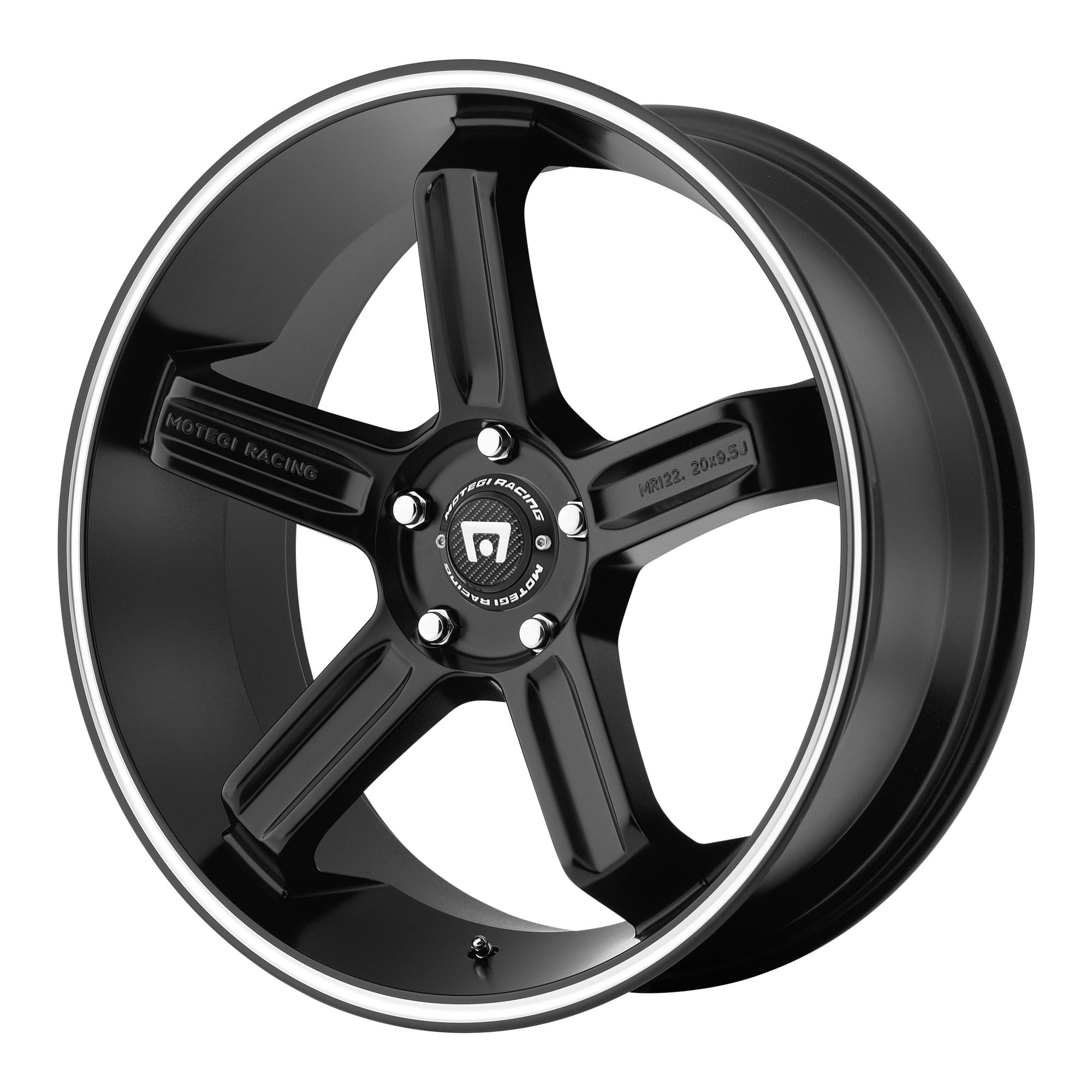 Motegi Racing Wheels MR122 Satin Black w/ Machined Stripe