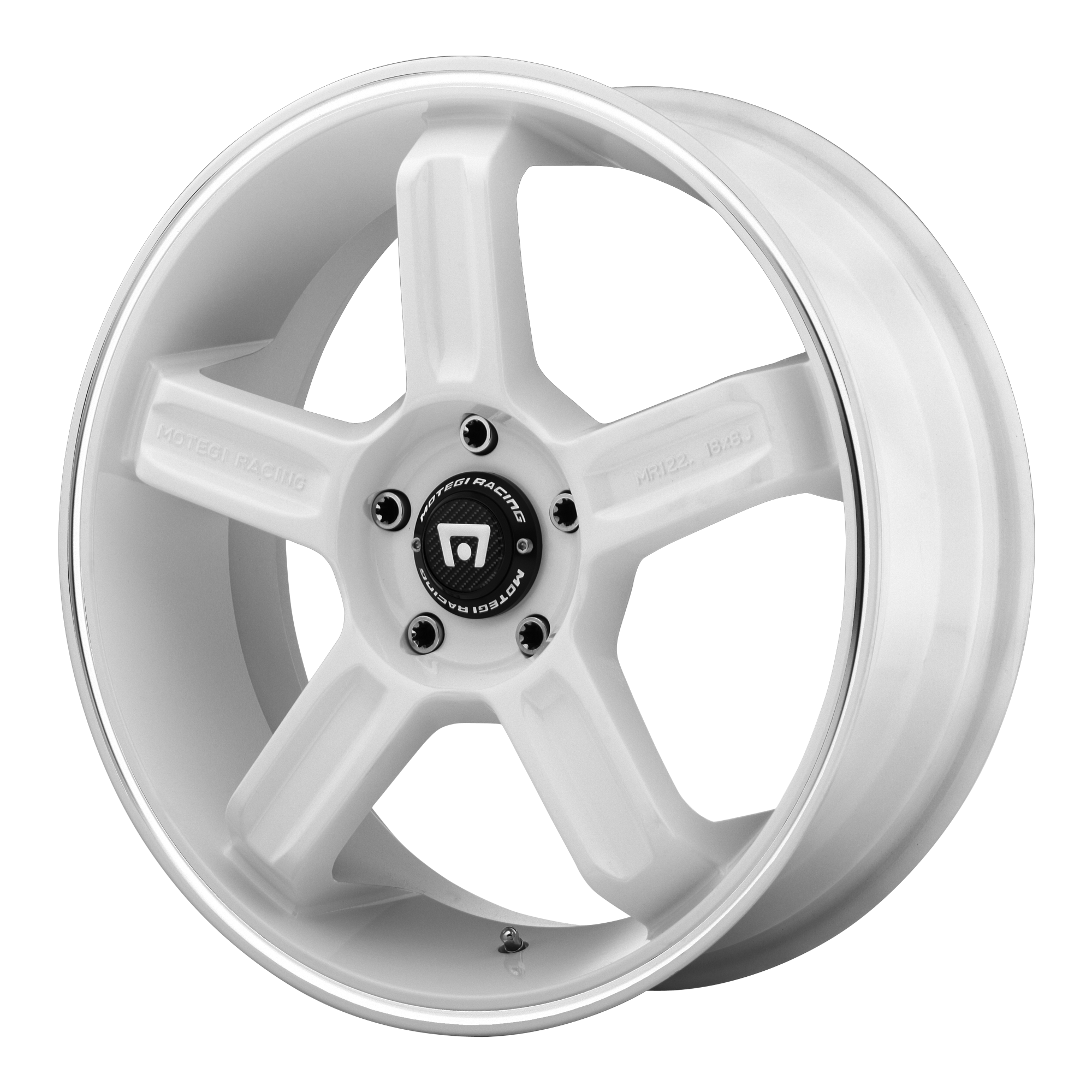 Motegi Racing Wheels MR122 White w/ Machined Lip GROOVE