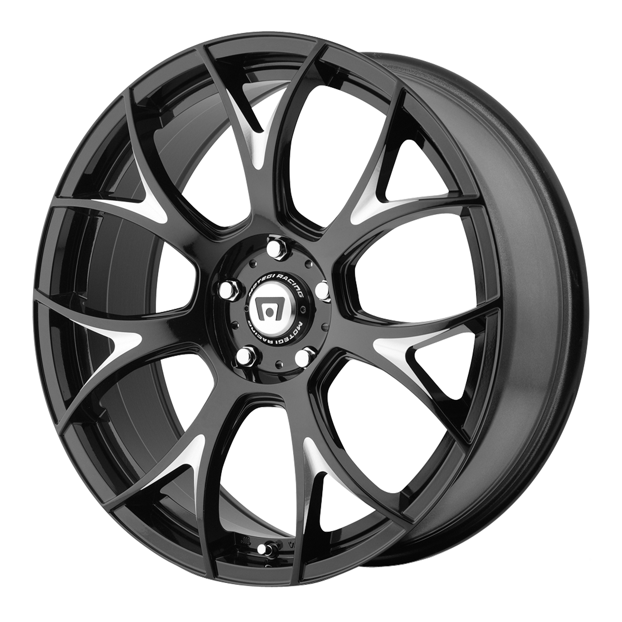 Motegi Racing Wheels MR126 Gloss Black w/ Milled Accents
