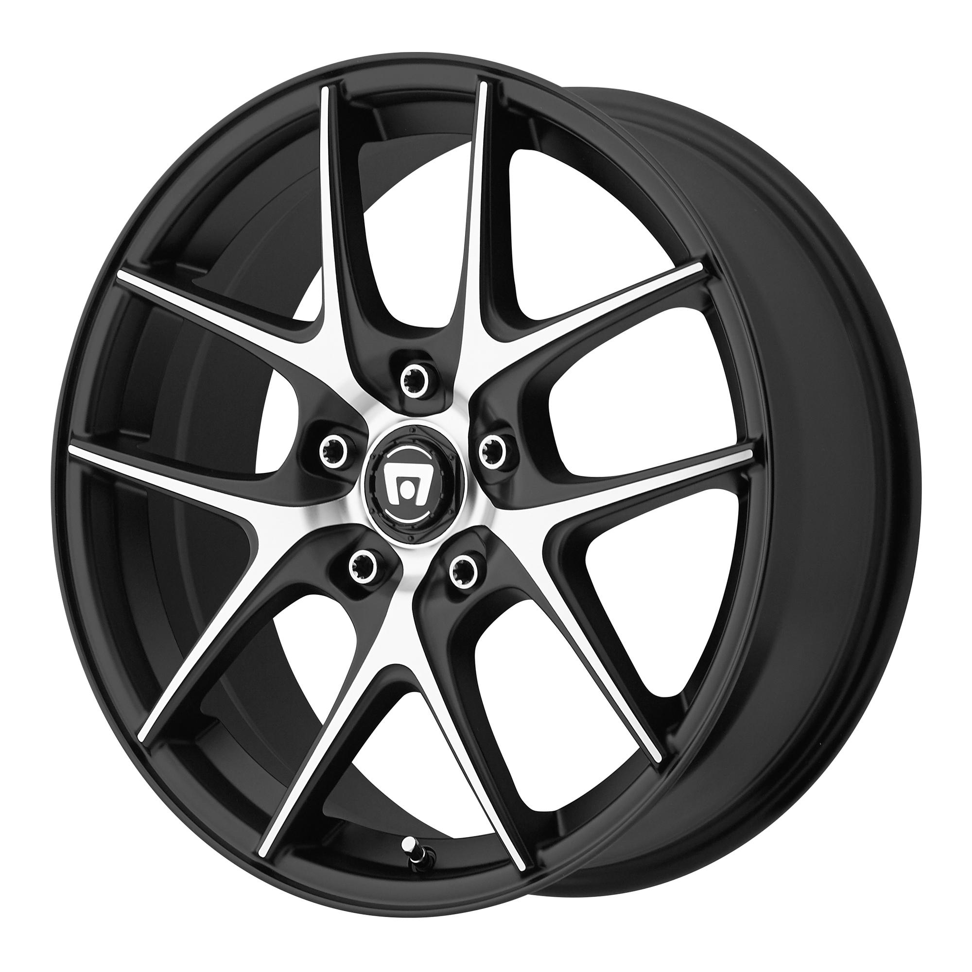 Motegi Racing Wheels MR128 Satin Black w/ Machined Face
