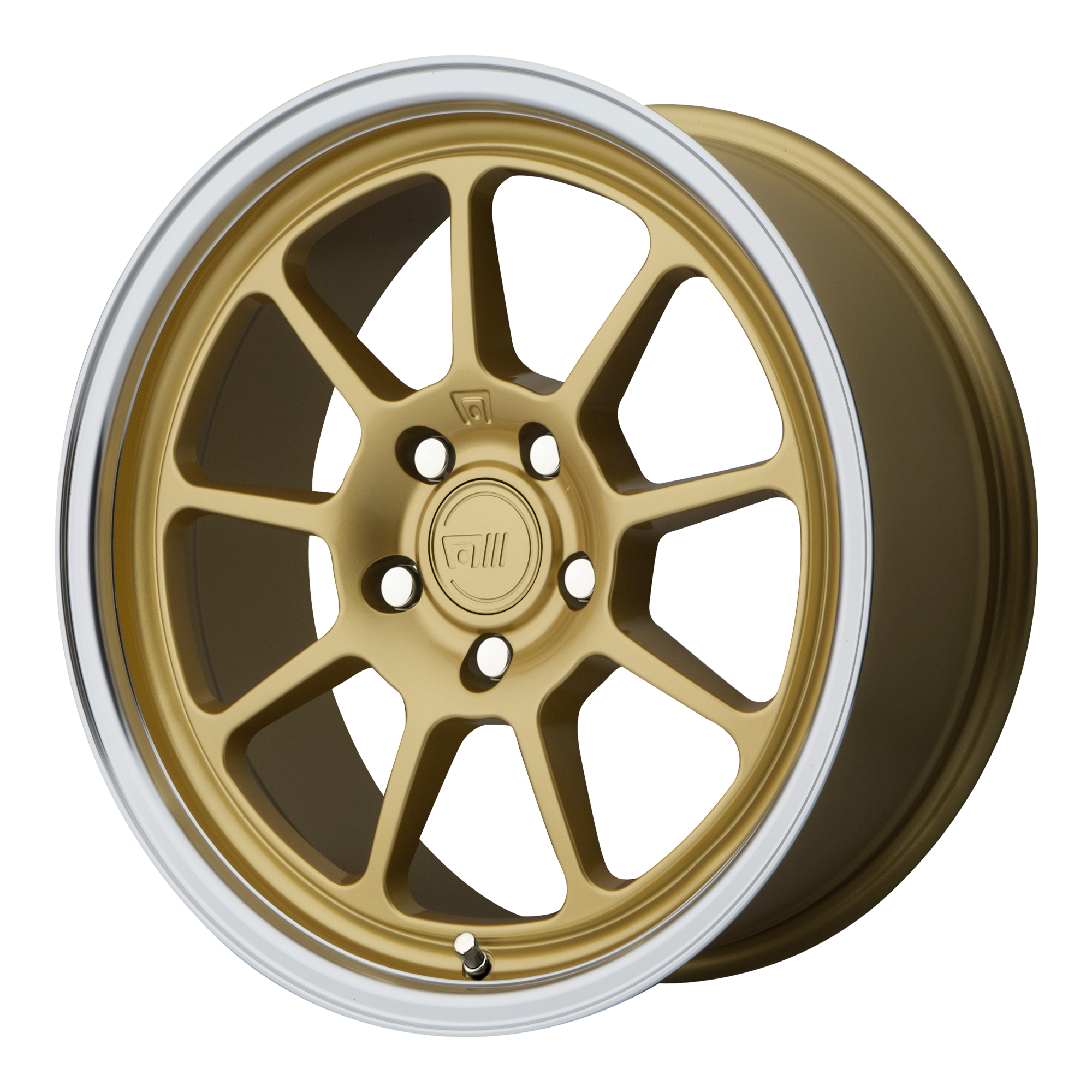 Motegi Racing Wheels MR135 Gold CENTER w/ Machined Lip
